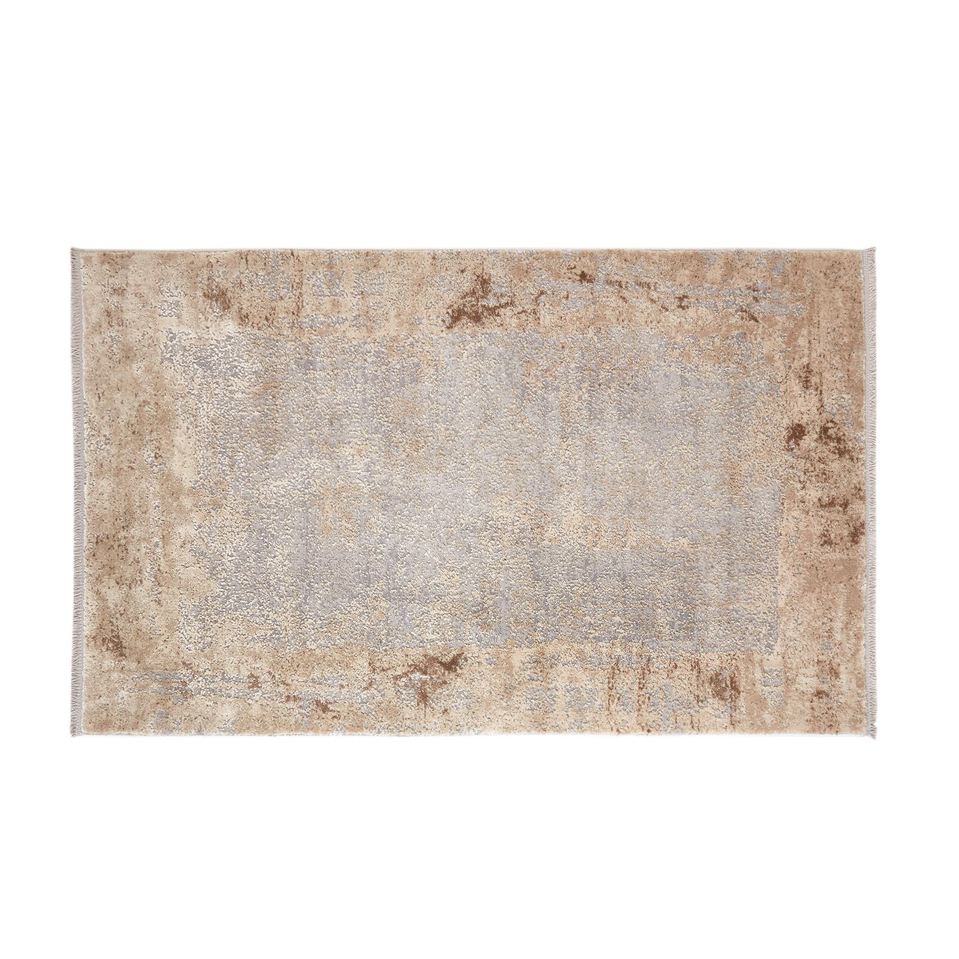 Tappeto motivo sfumato bicolore, Beige, large image number 0