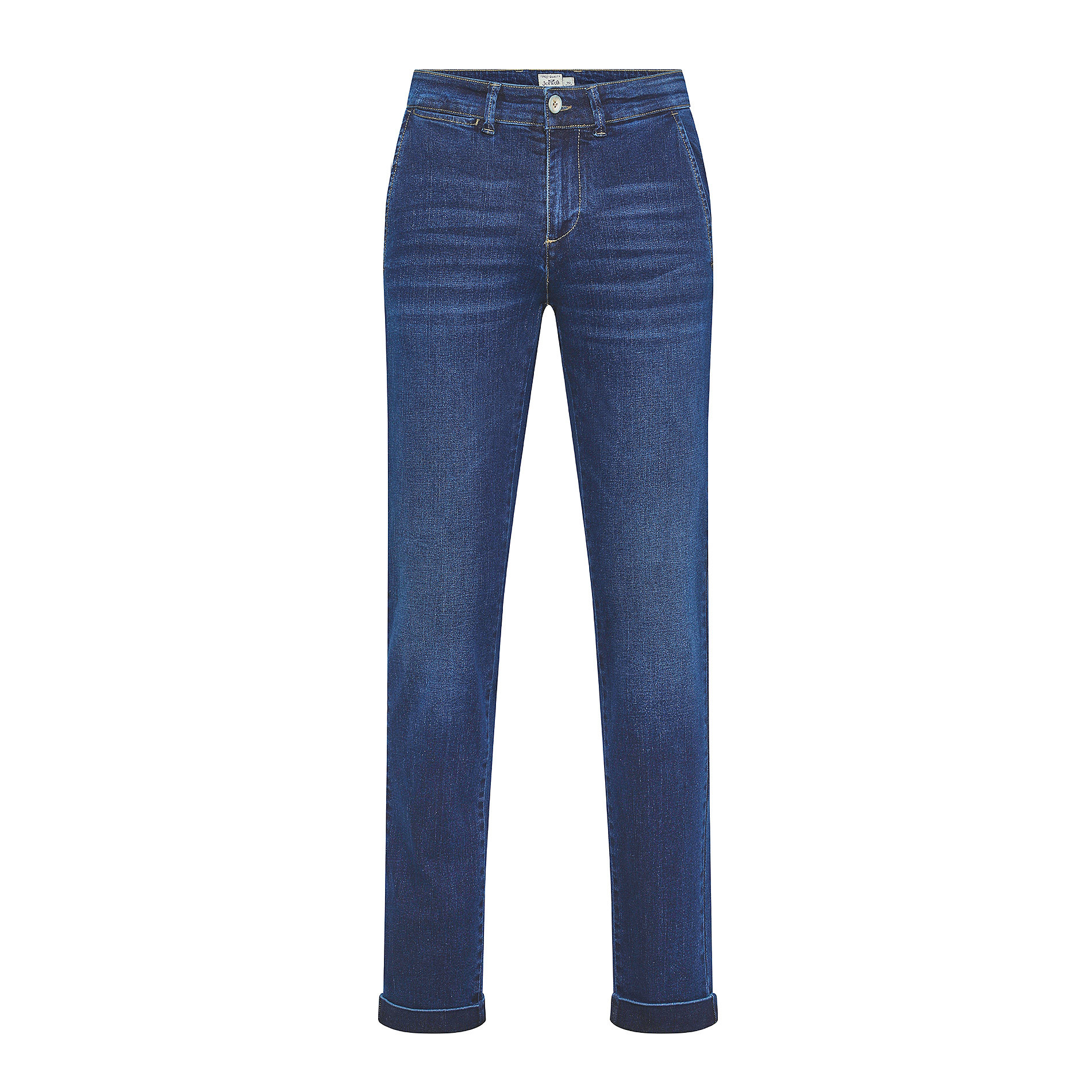 Pantalone chino denim stretch JCT, Blu scuro, large image number 0
