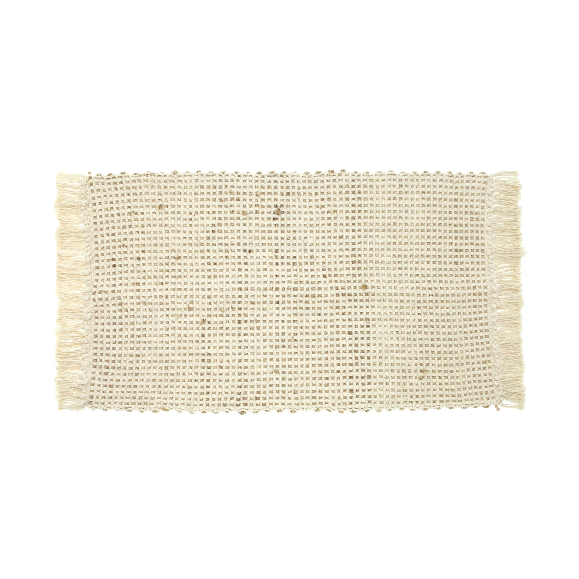 Tappetino cotone juta, Naturale, large image number 0