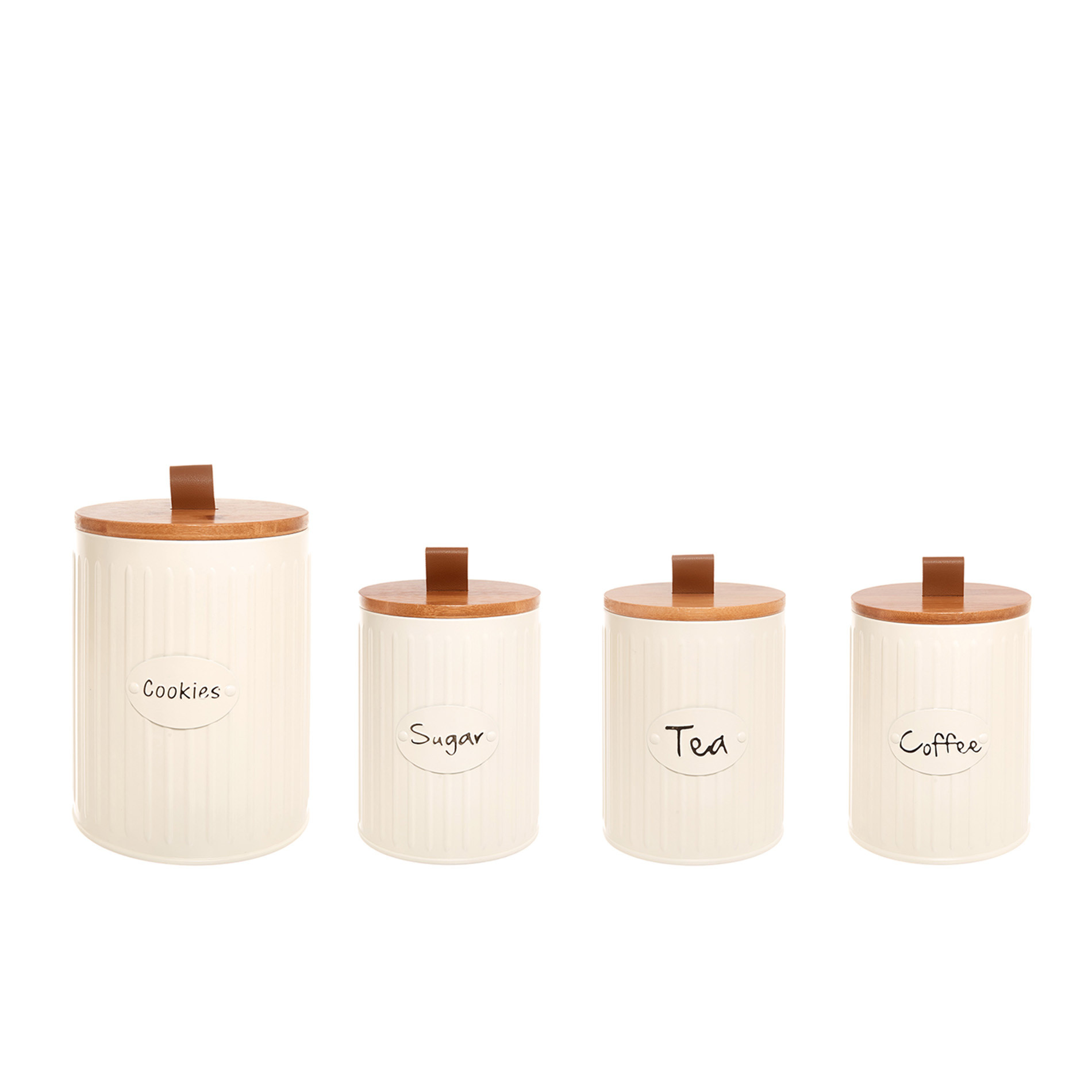 Barattolo in metallo smaltato Tea, Beige scuro, large image number 2