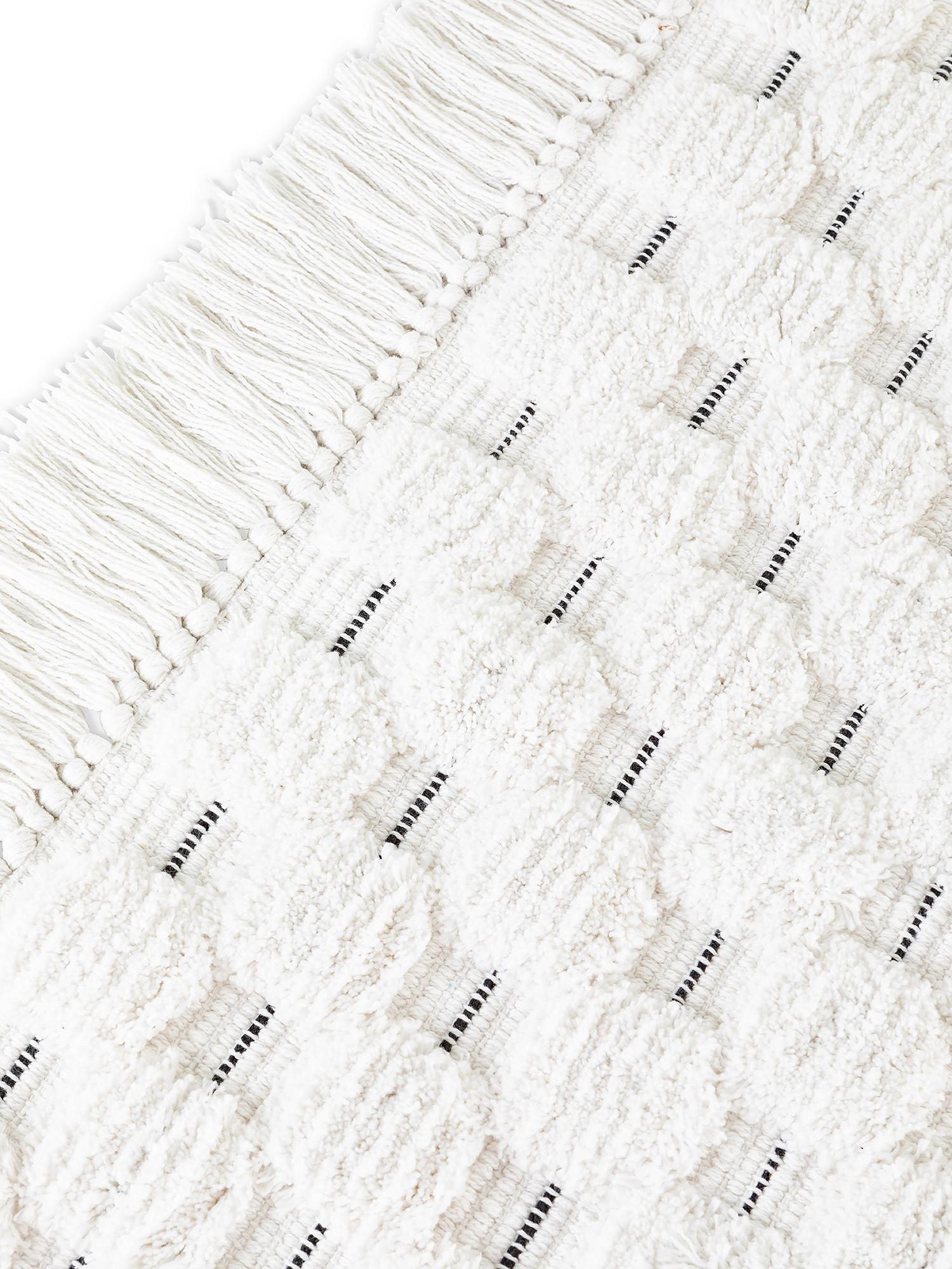 Tappeto bagno spugna di cotone con impunture, Bianco, large image number 1