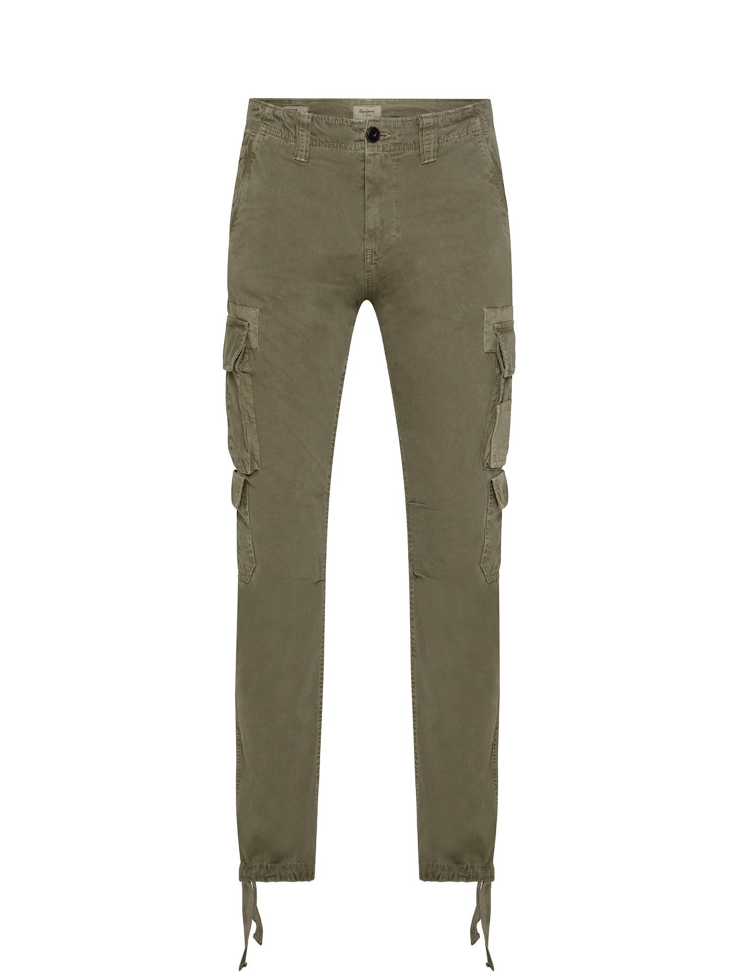 Pantalone 5 tasche, Verde, large image number 0