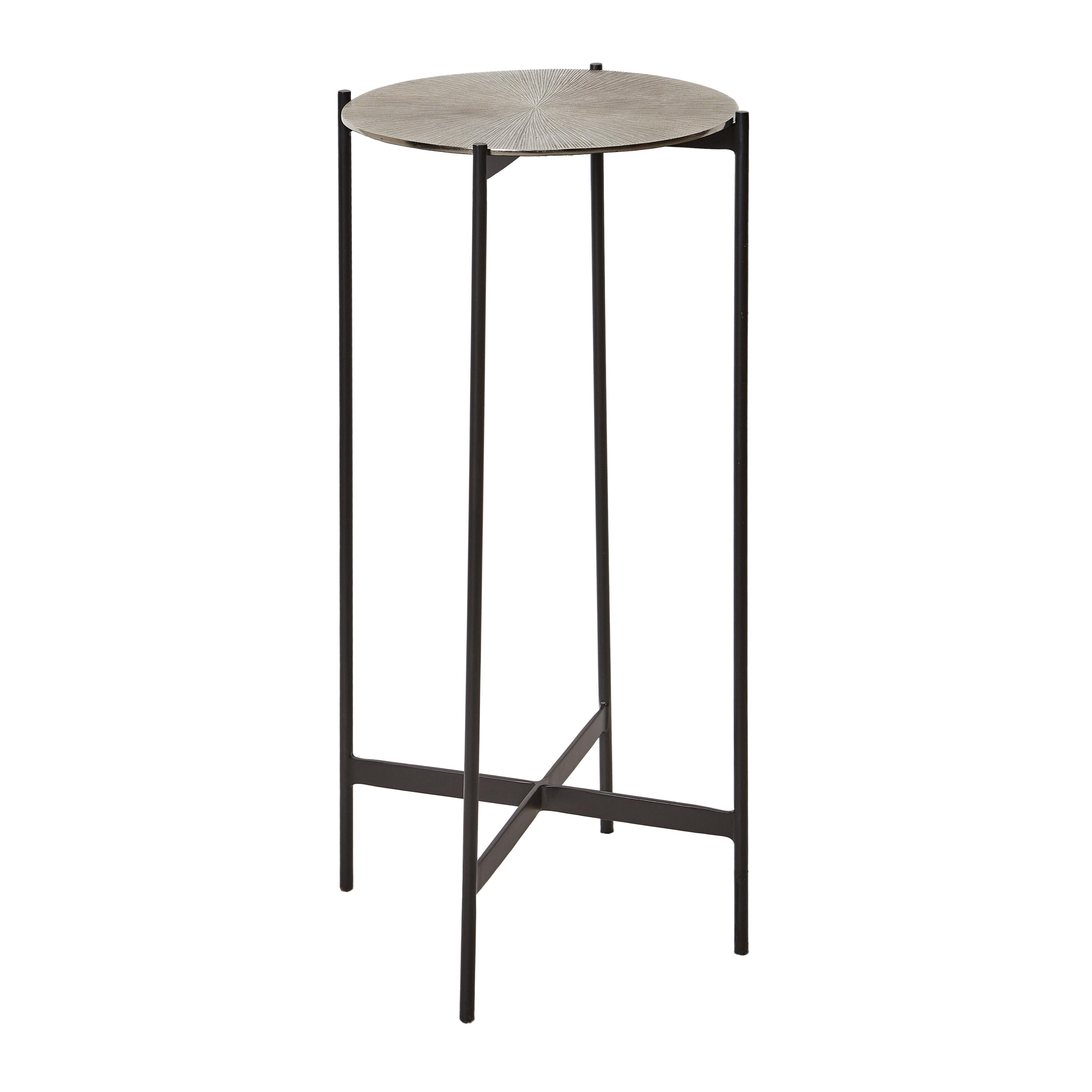 Tavolino in alluminio Round, Grigio argento, large image number 0