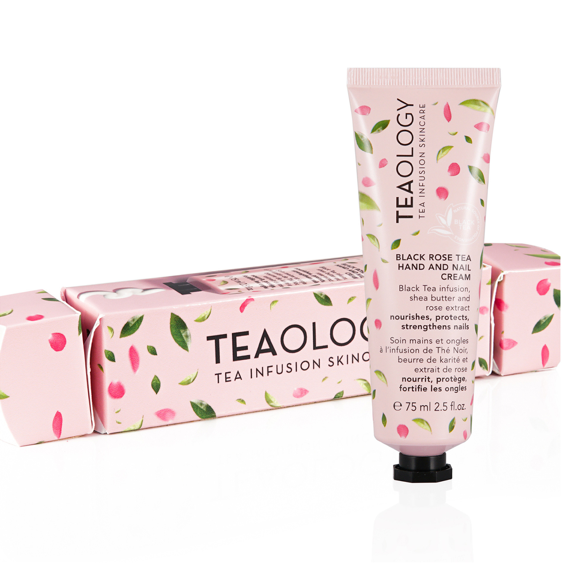 Black rose tea hand and nail cream candy wrap, Bianco, large image number 0