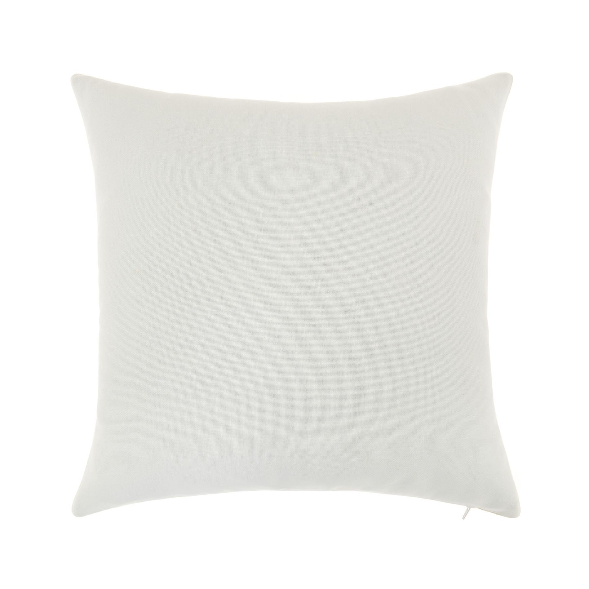 Cuscino jacquard motivo geometrico 43x43cm, Bianco, large image number 1