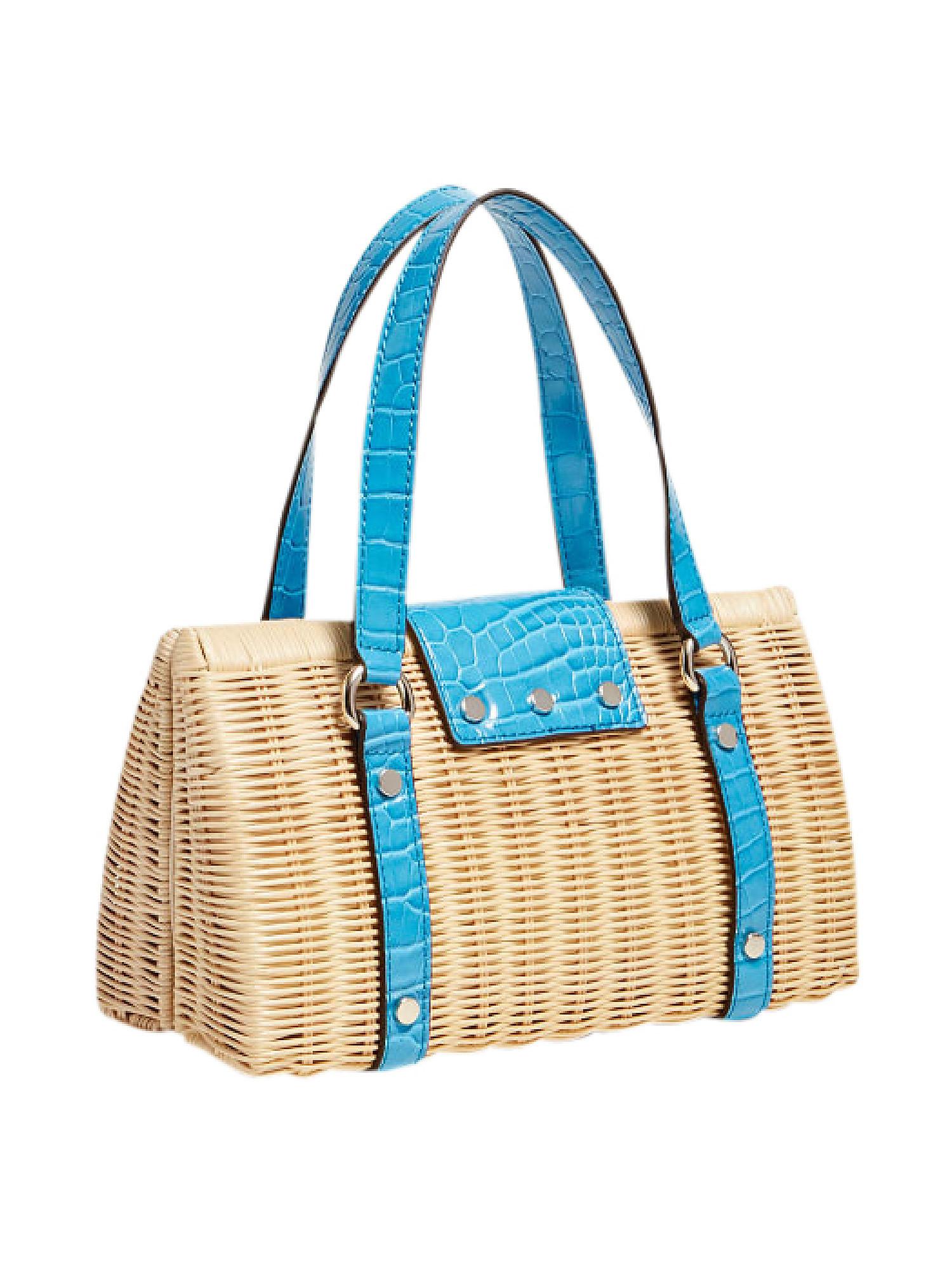 Paloma Satchel Bag, Blu, large image number 1