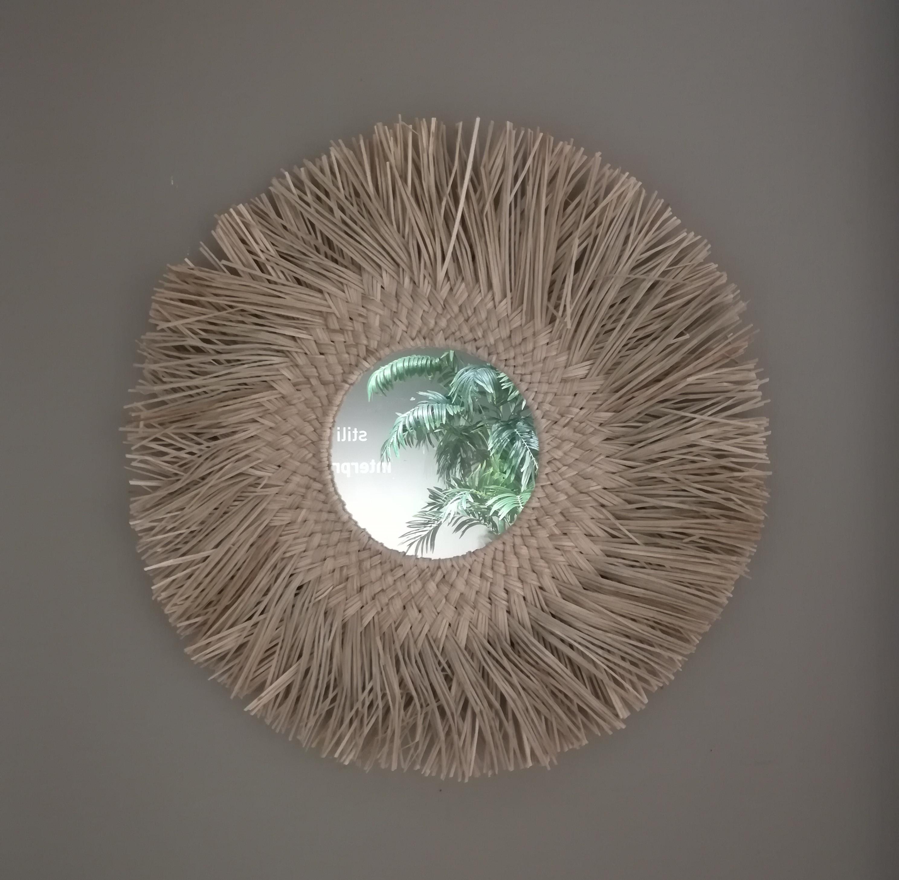 Specchio cornice foglie di palma, Trasparente, large image number 0
