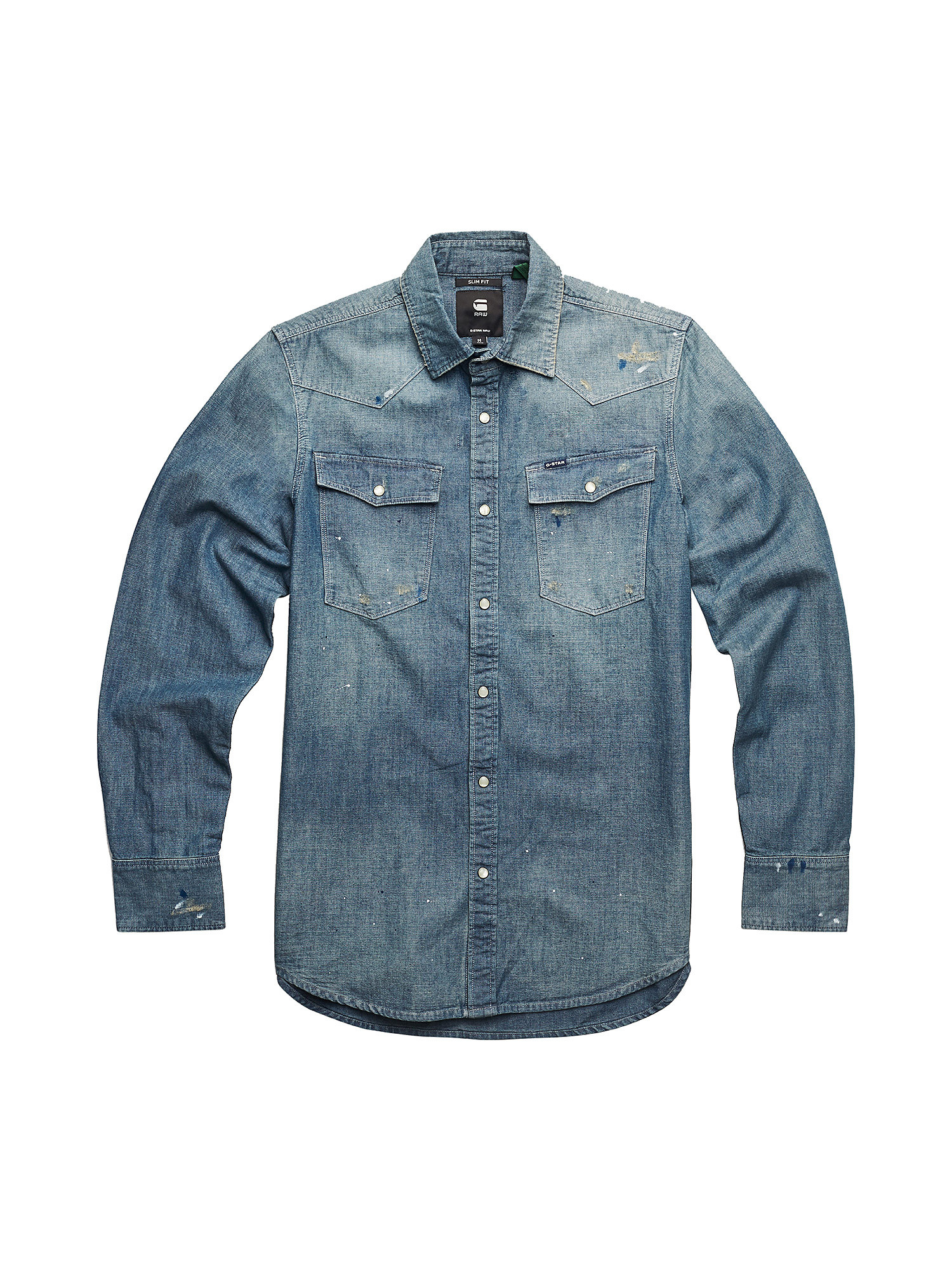 Camicia Chambray slim, Denim, large image number 0