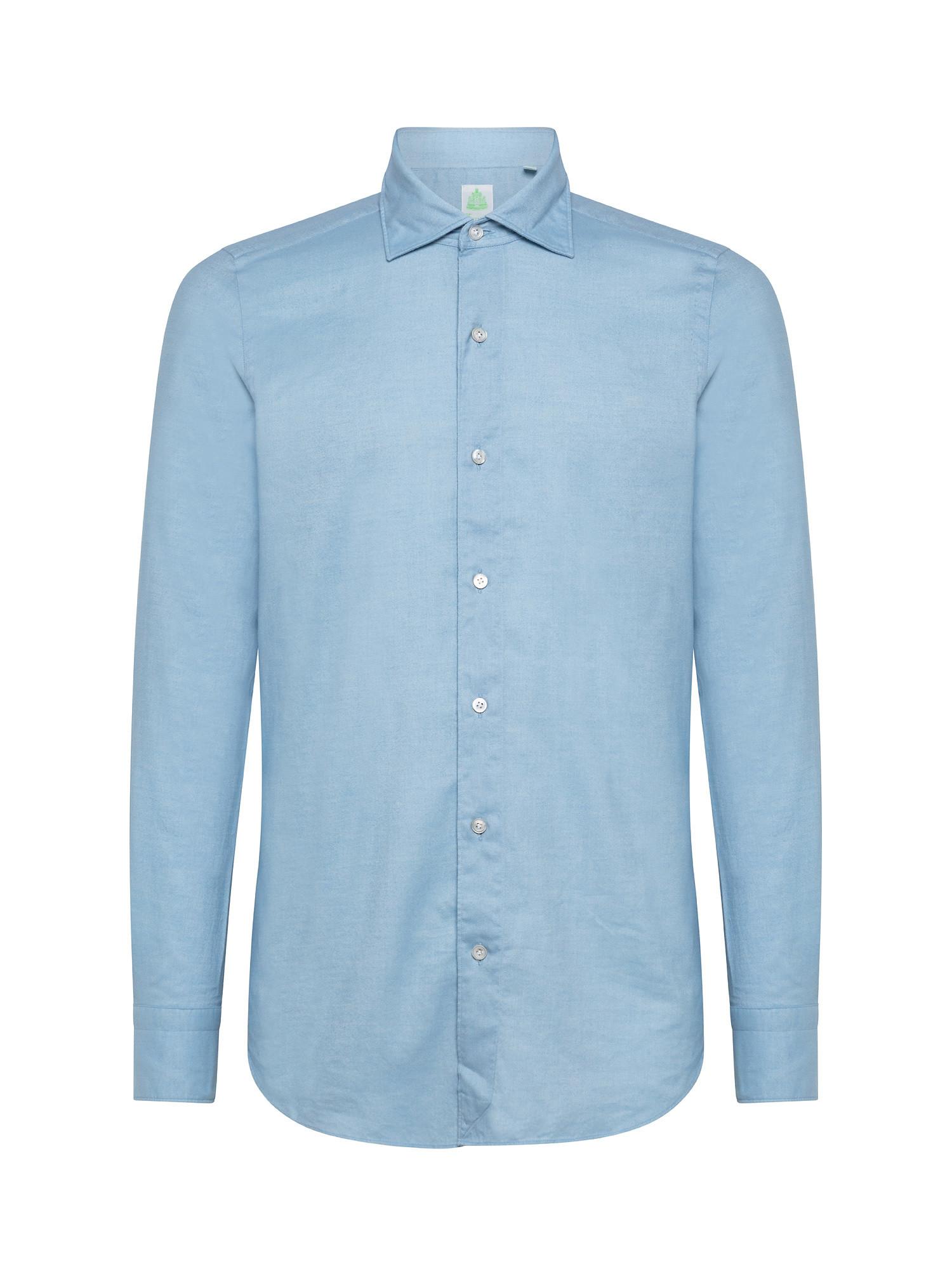 Camicia uomo slim fit, Azzurro, large image number 0