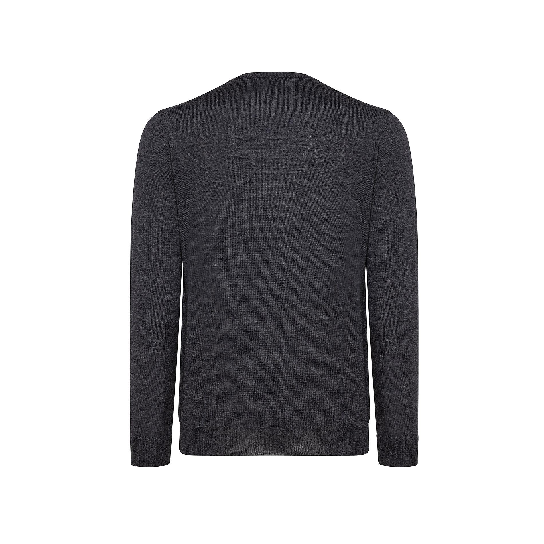 Pullover girocollo lana merinos extrafine, Grigio chiaro, large image number 1