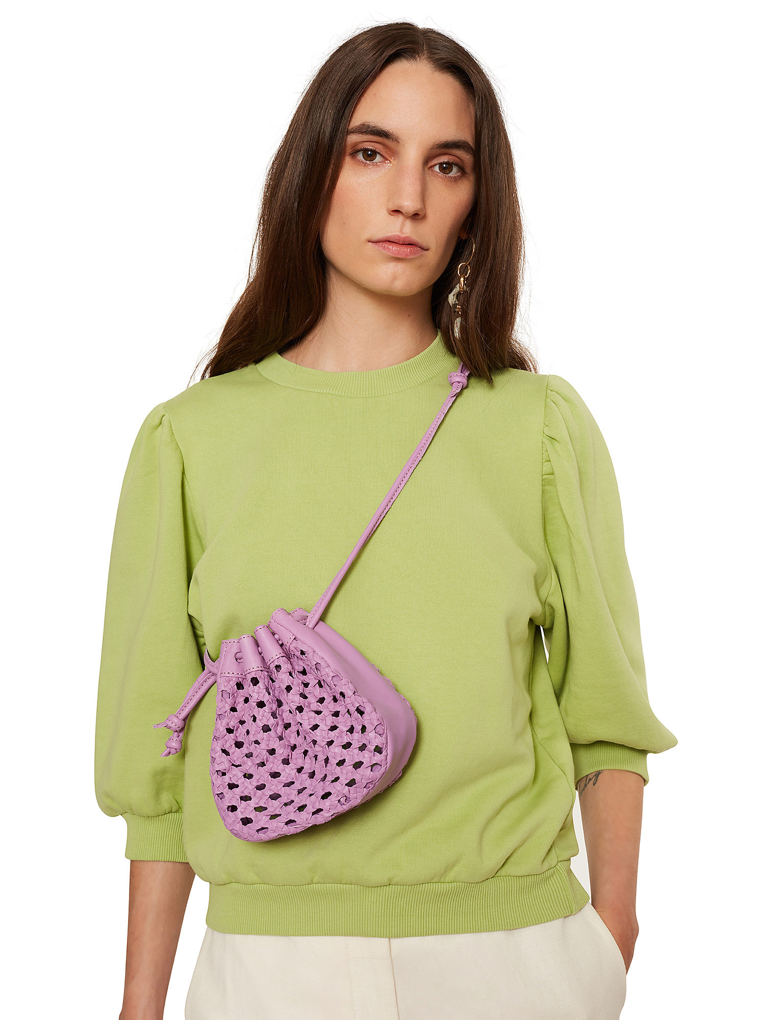 Maglia donna in cotone, Verde lime, large image number 3