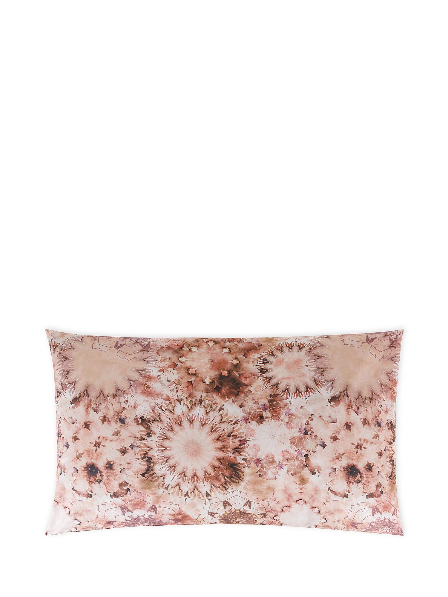 Federa cotone percalle fantasia floreale, Rosa, large image number 0