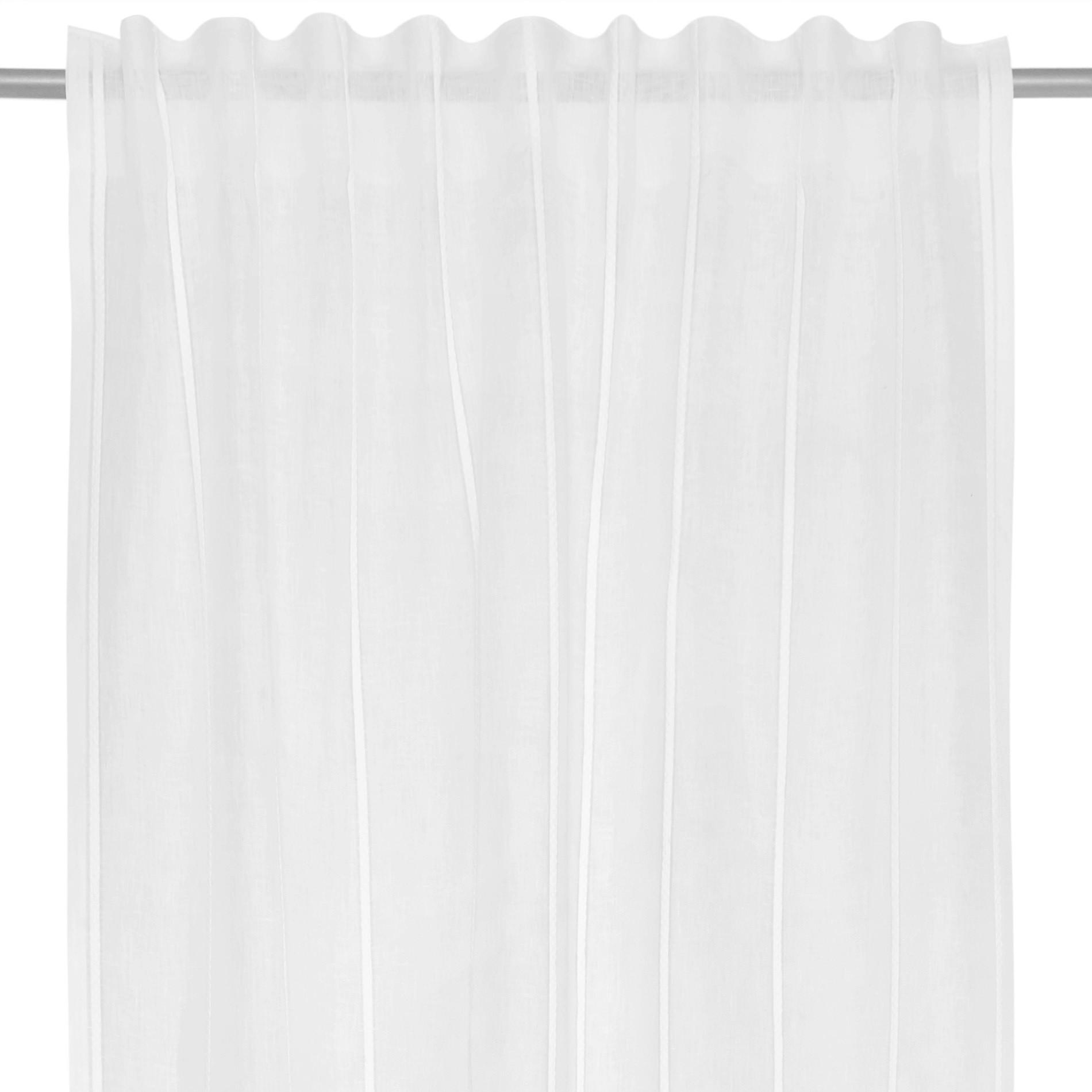 Tenda misto lino con applicazioni, Bianco, large image number 3