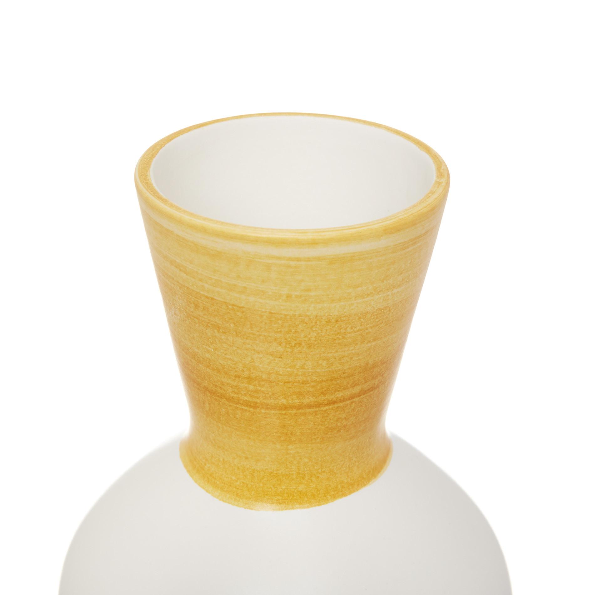 Vaso ceramica artigianale, Bianco, large image number 1