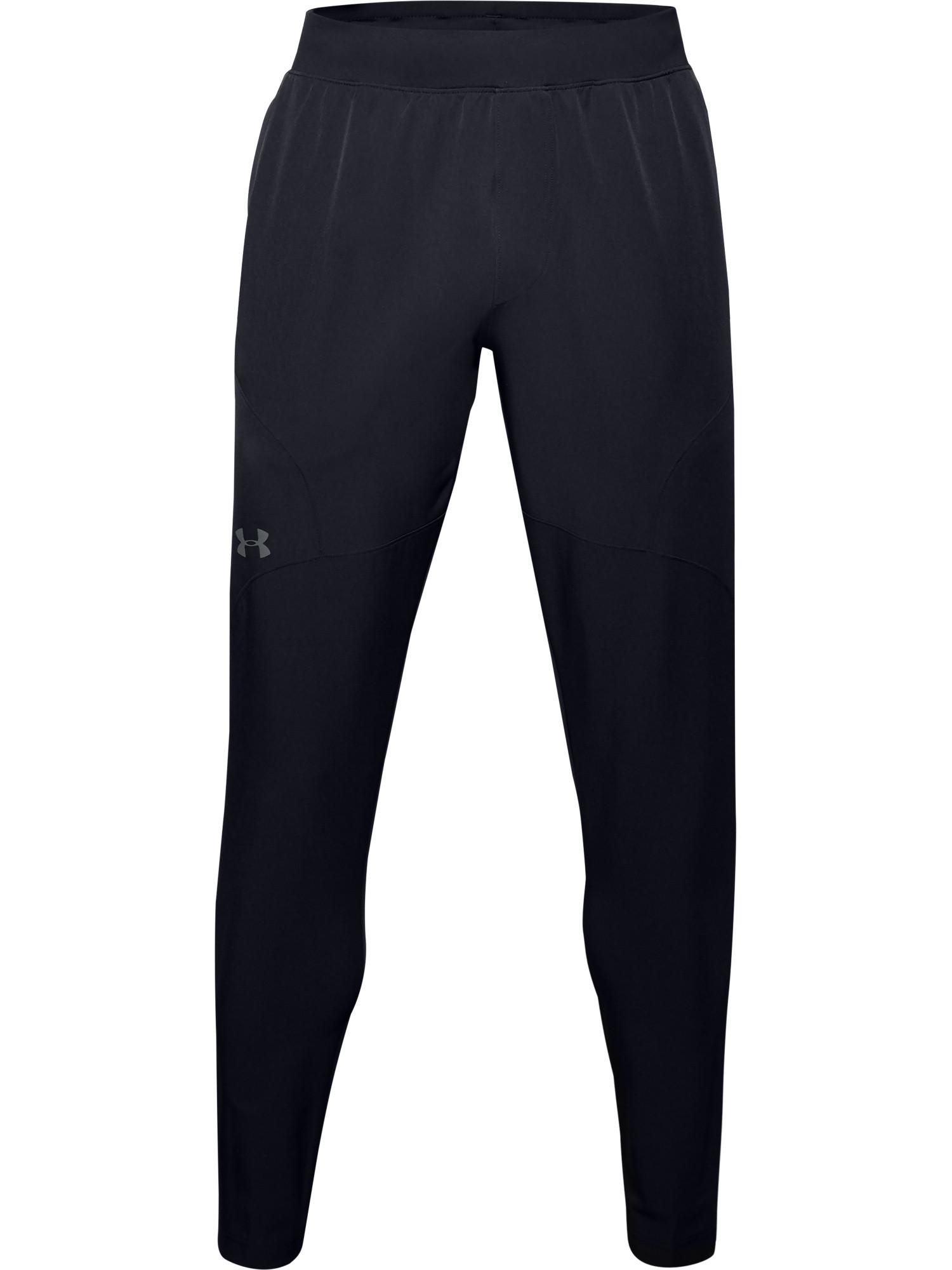 Pantaloni affusolati UA Flex Woven da uomo, Nero, large image number 0