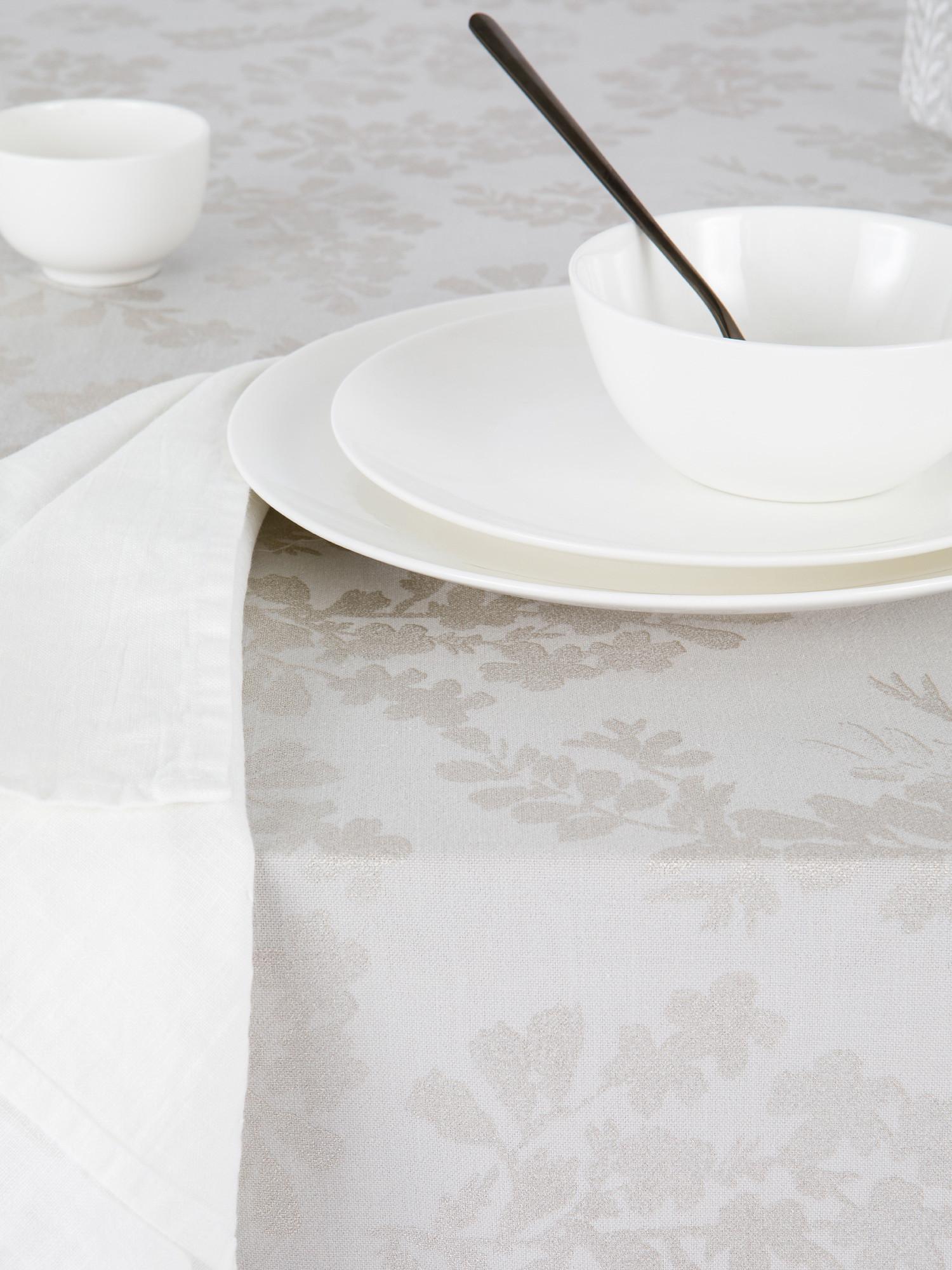 Tovaglia cotone e lino stampa foil, Grigio, large image number 1