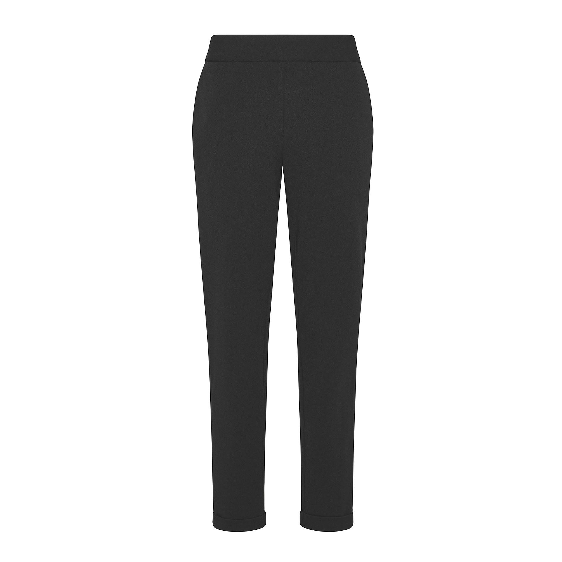 Pantalone tessuto crêpe Koan, Nero, large image number 0