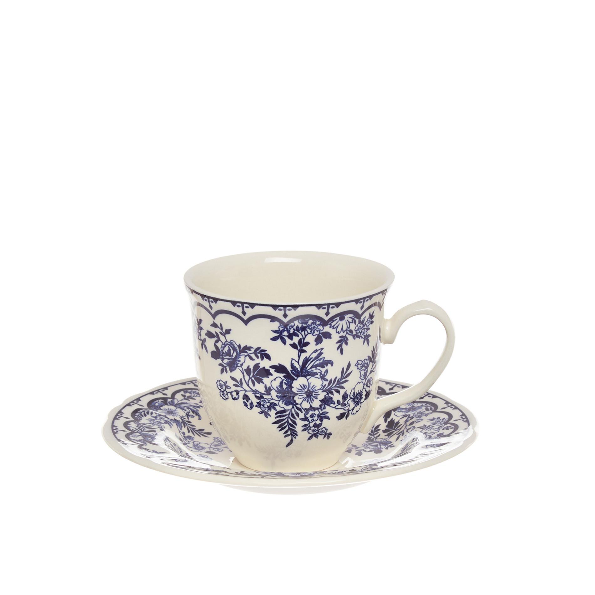 Tazza tè ceramica Blue Flower, Blu, large image number 0