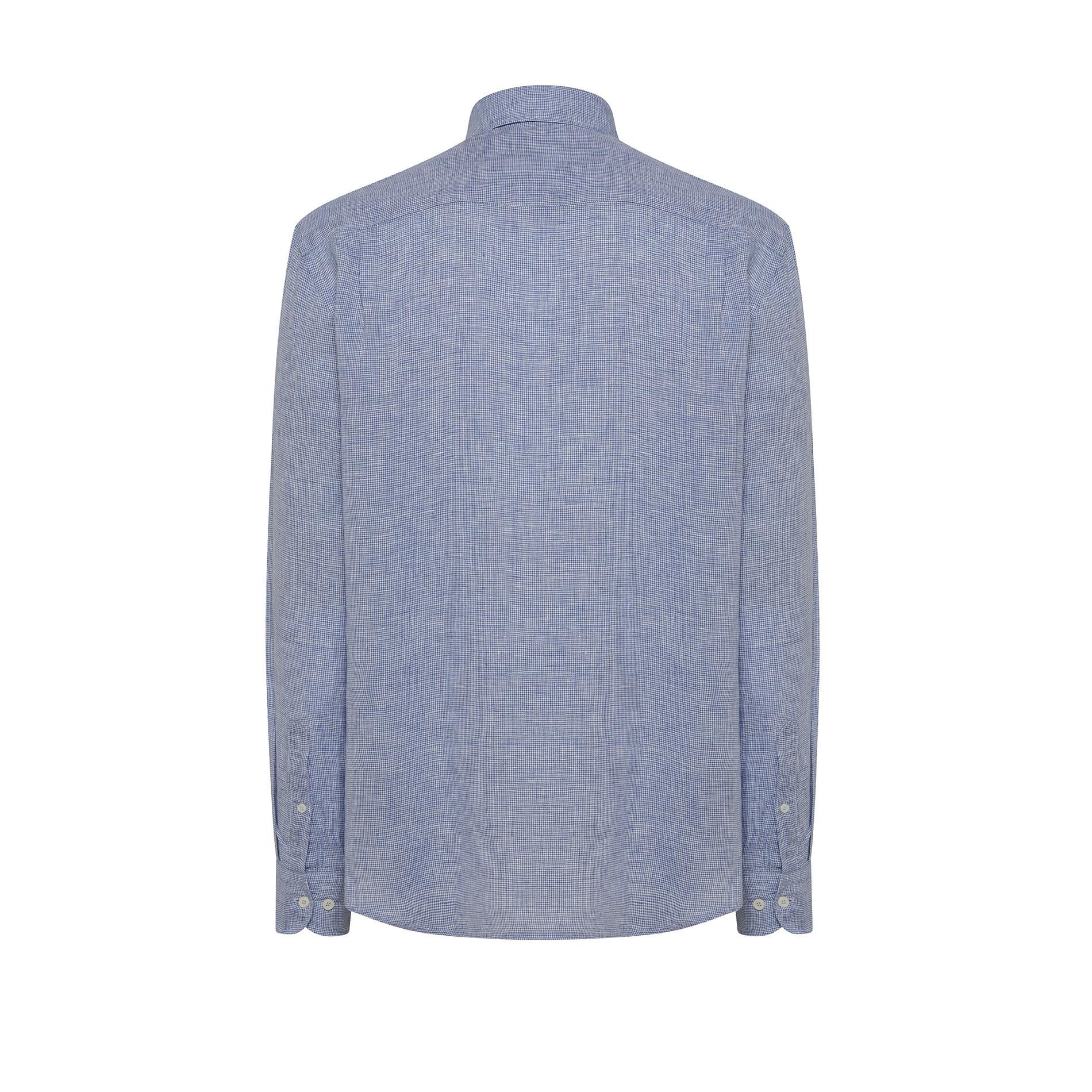 Camicia puro lino regular fit Luca D'Altieri, Azzurro, large image number 1