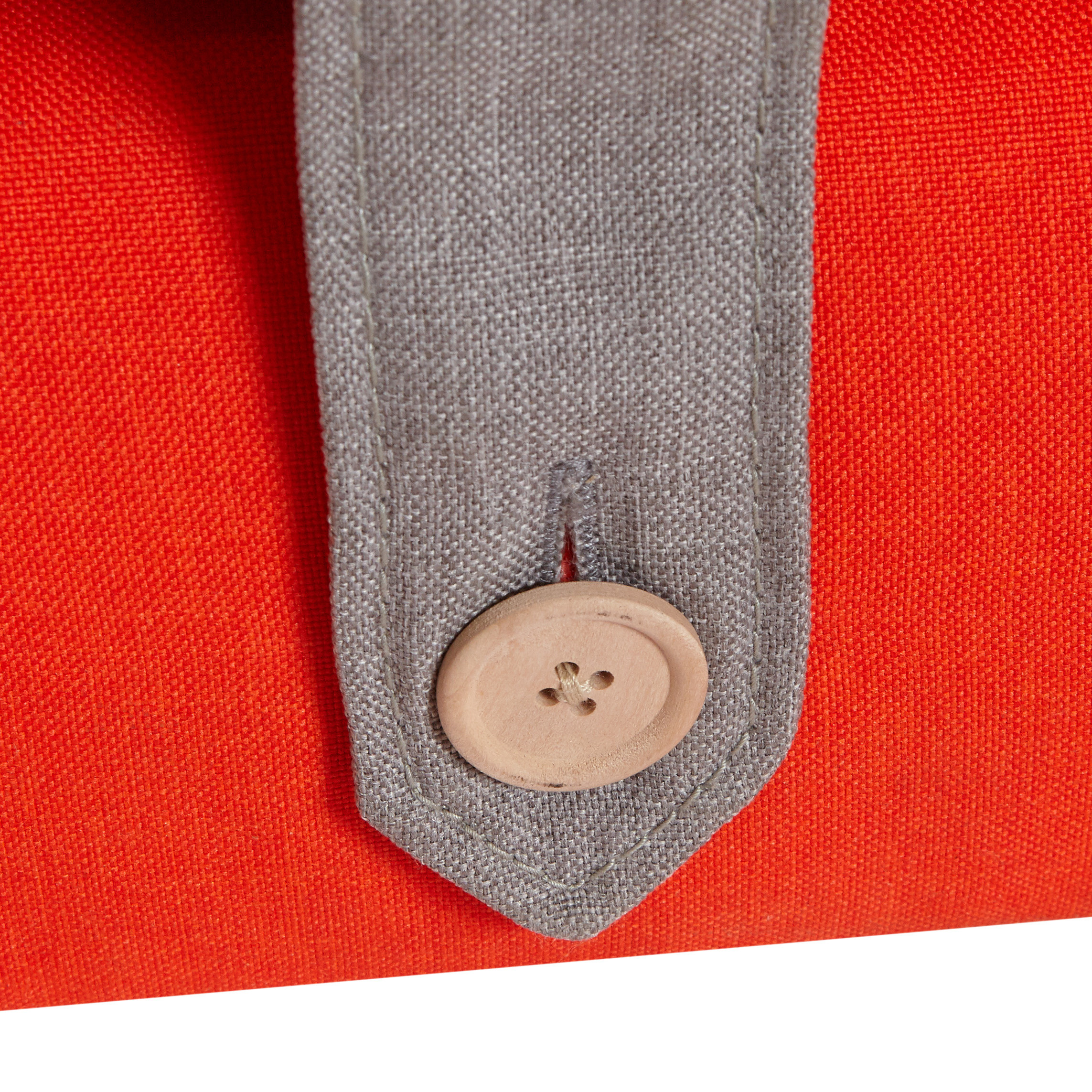 Ottomana in tessuto tinta unita Otto, Rosso, large image number 1