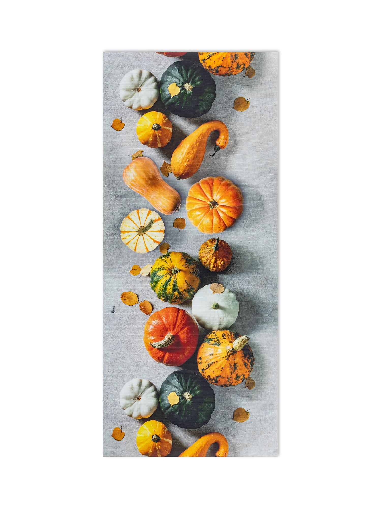 Tappeto da cucina PVC stampa zucche, Arancione, large image number 0