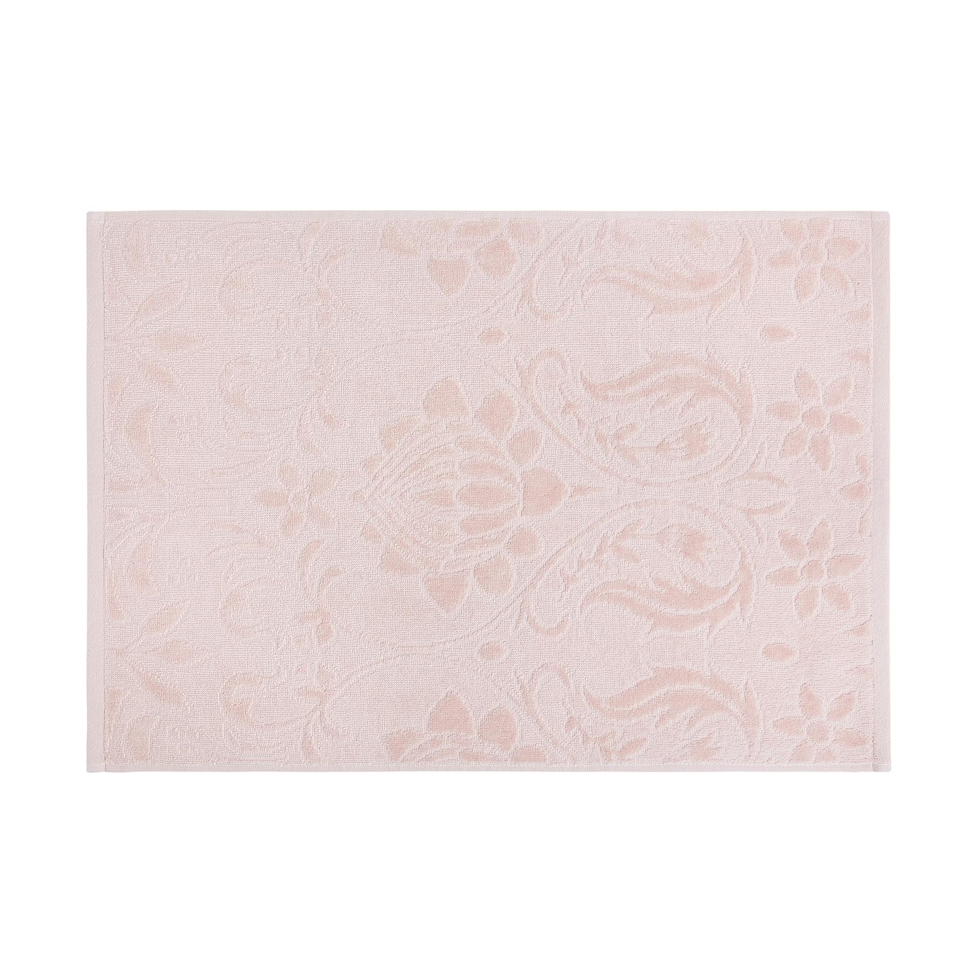 Asciugamano puro cotone lavorazione damascata, Rosa cipria, large image number 2