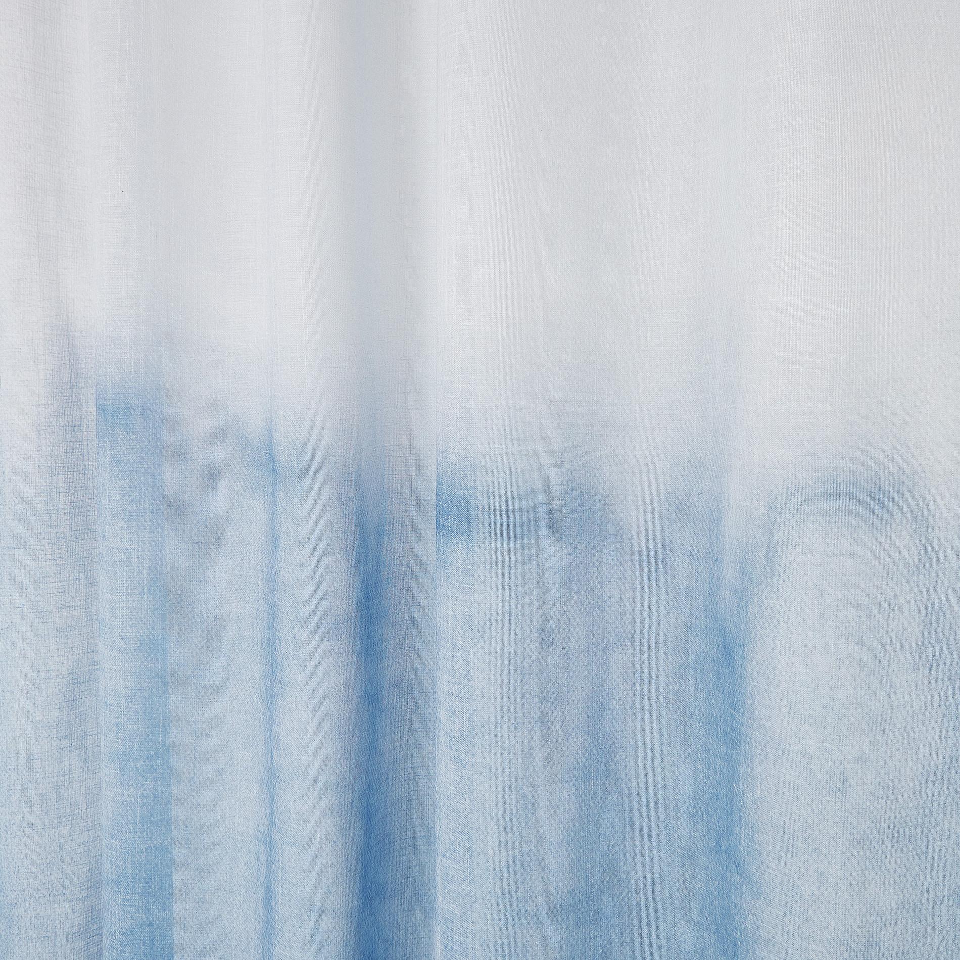 Tenda tessuto sfumato passanti nascosti, Azzurro, large image number 3
