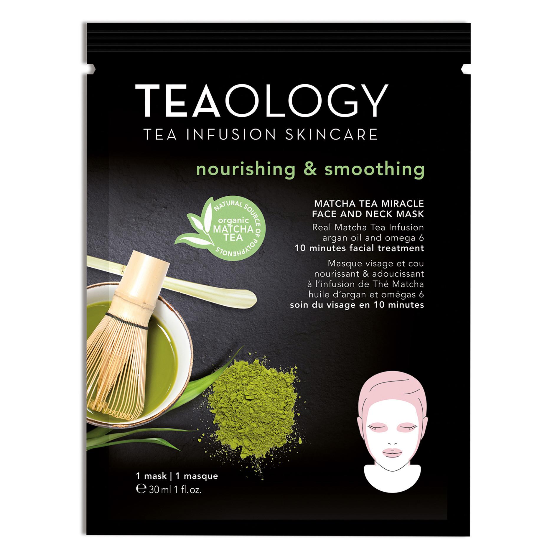 Matcha Tea Miracle Face and Neck Mask Nutriente e Levigante 30 ml, Nero, large image number 0