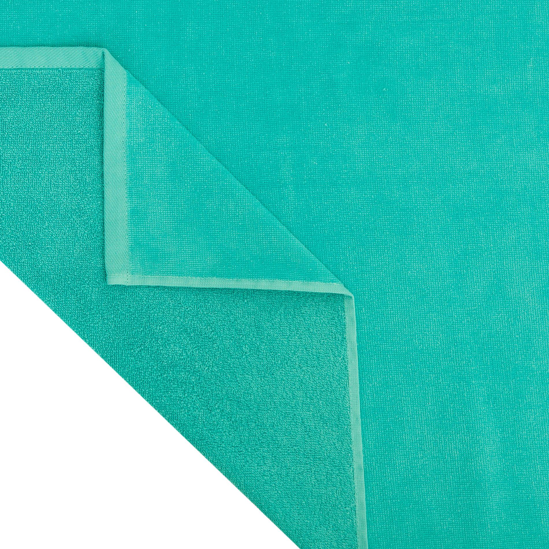 Telo mare in spugna di cotone con tasca, Verde chiaro, large image number 2