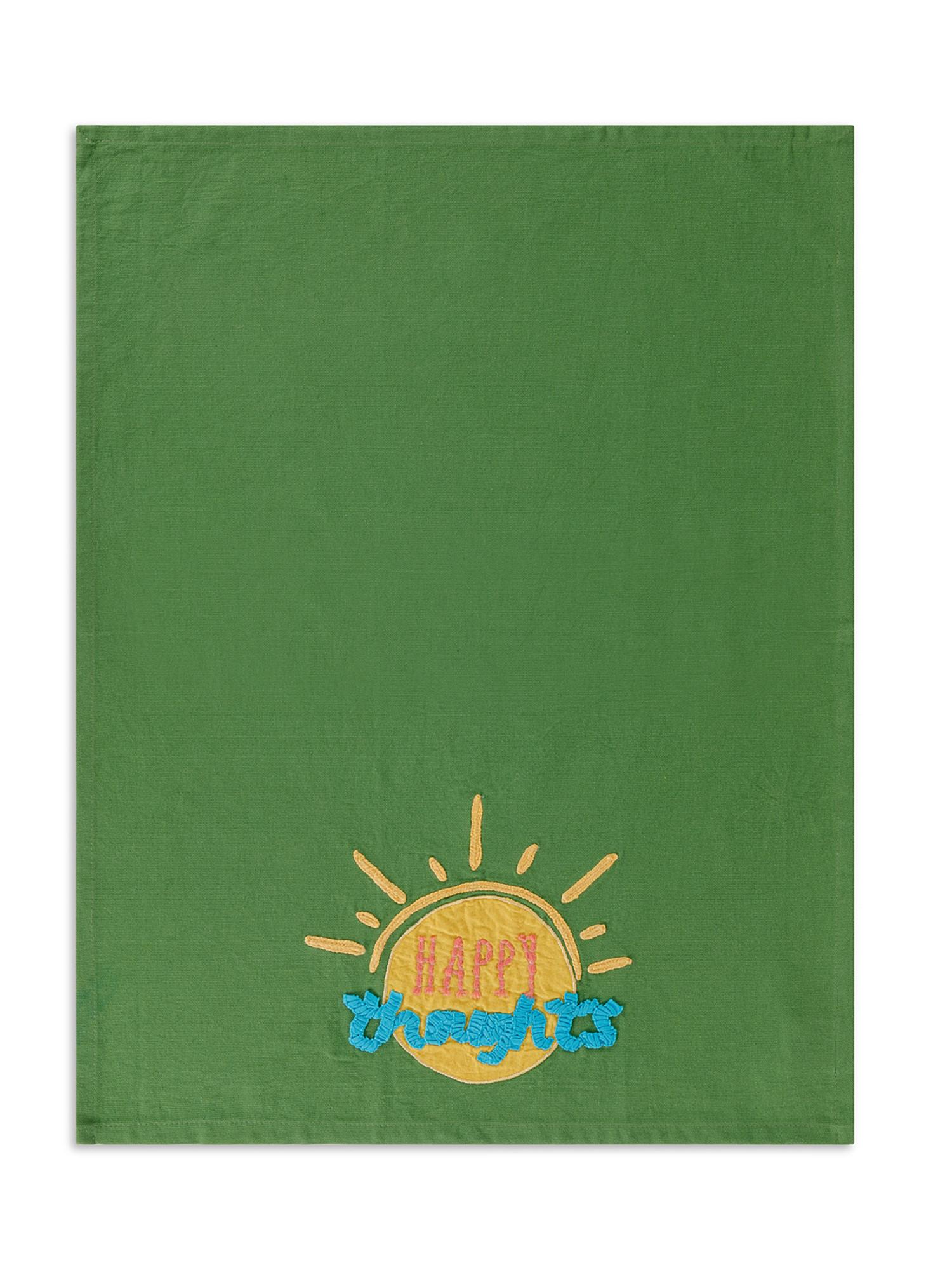 Set 2 strofinacci puro cotone con ricami, Multicolor, large image number 1