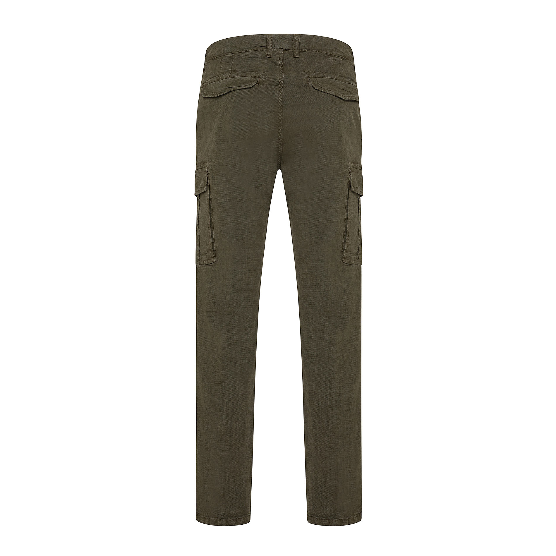 Pantalone cargo stretch con tasche, Verde scuro, large image number 1