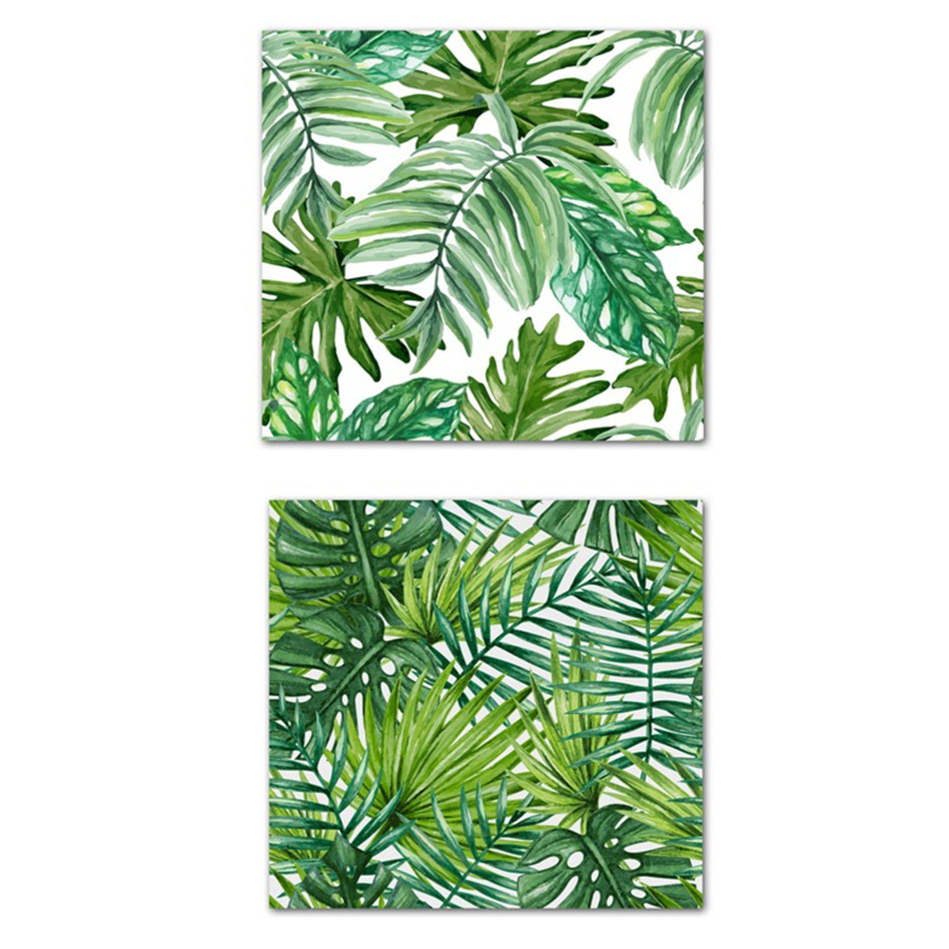 Tela con stampa fotografica foglie, Verde, large image number 0