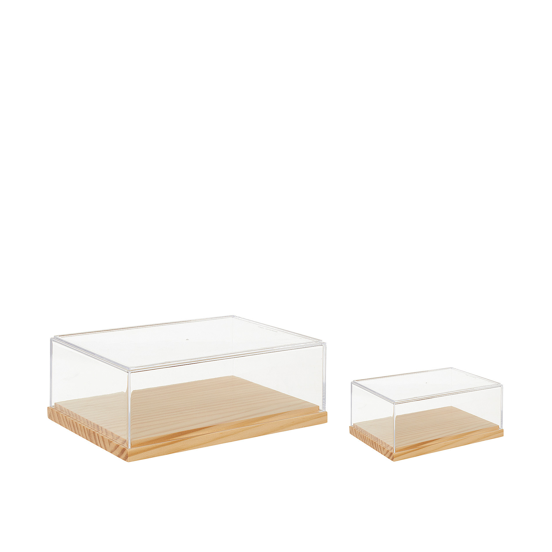 Box in plexiglass e bamboo, Trasparente, large image number 1