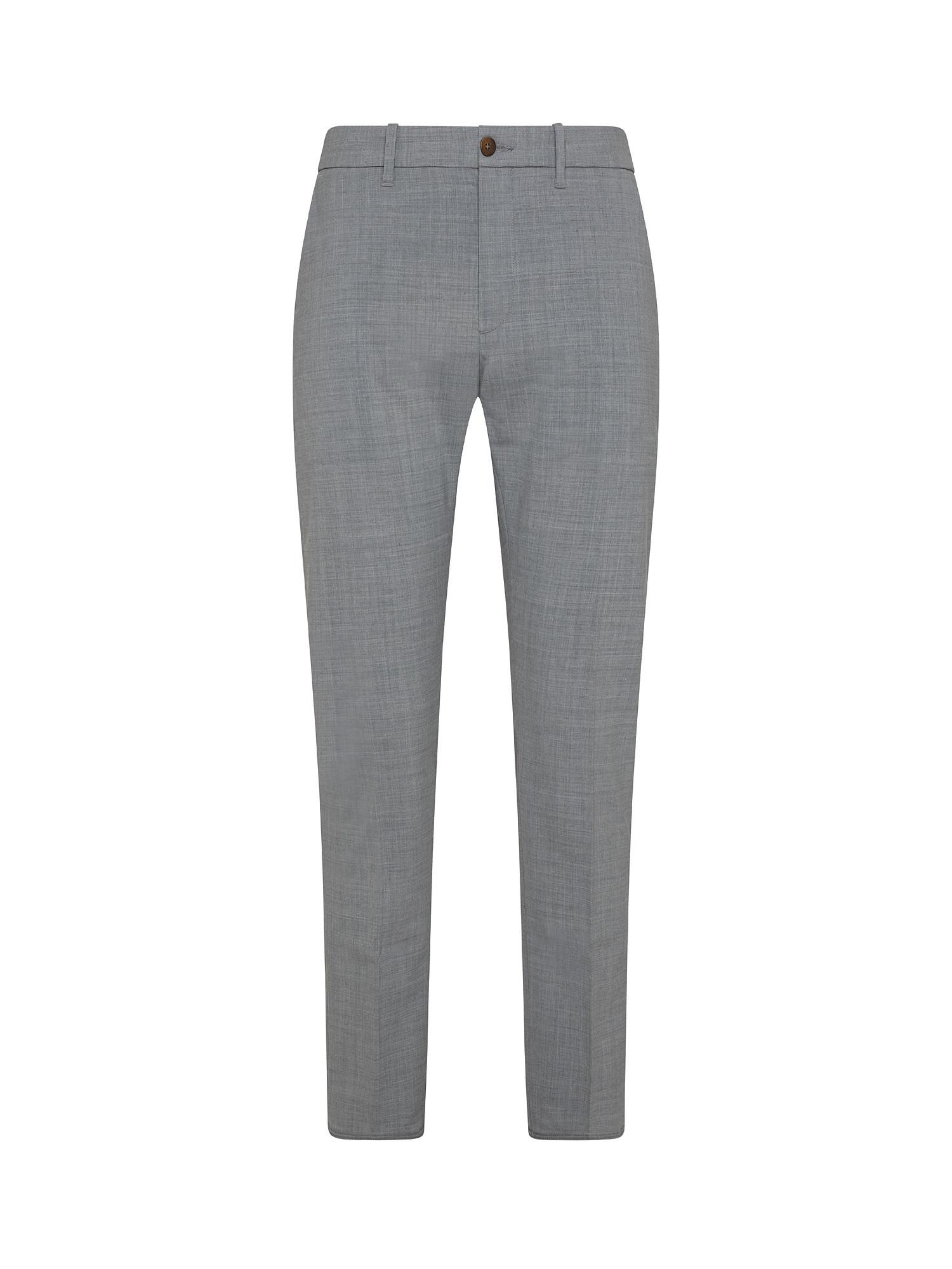 Pantaloni Chino coulisse, Grigio, large image number 0