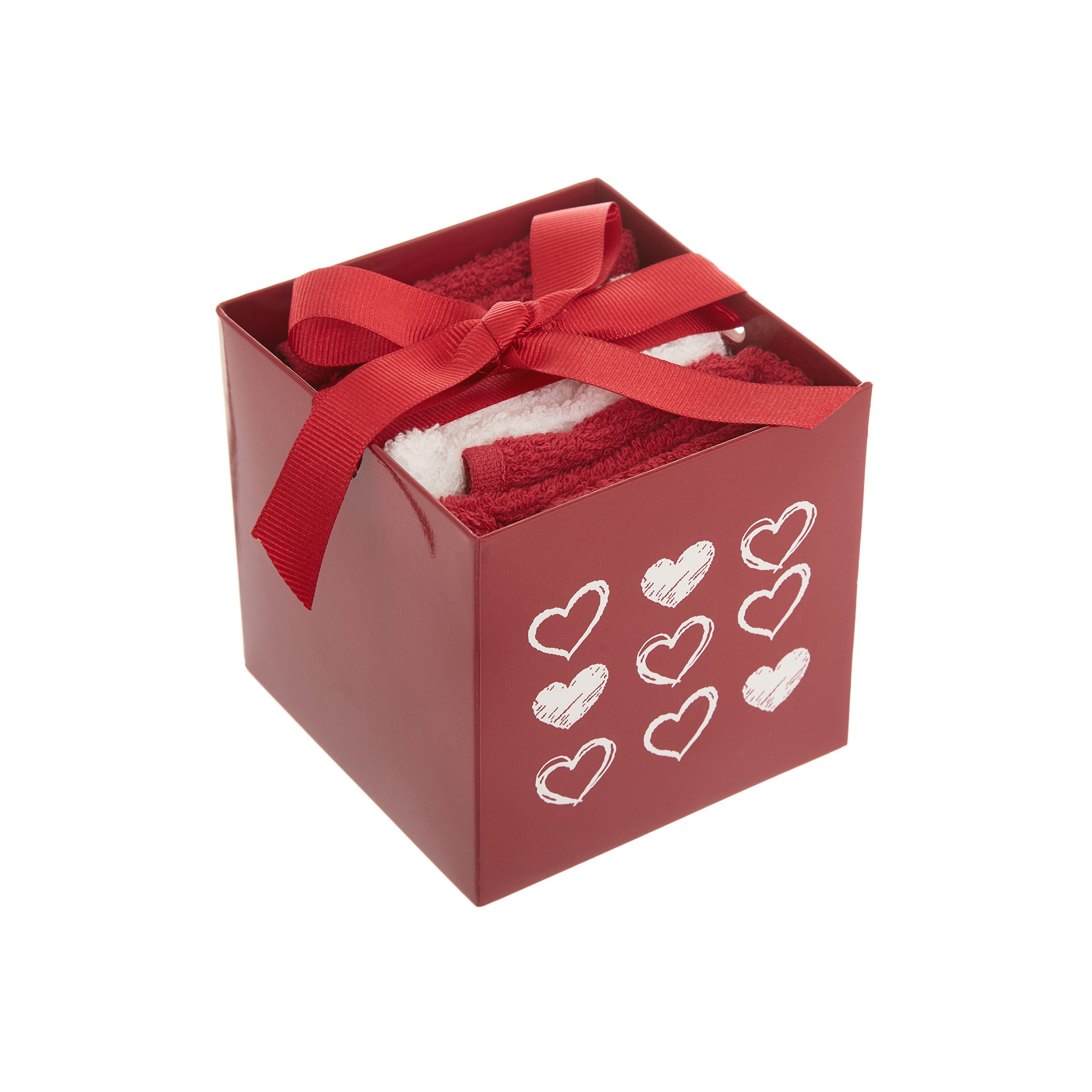 Box 3 lavette ricamo cuore, , large image number 0