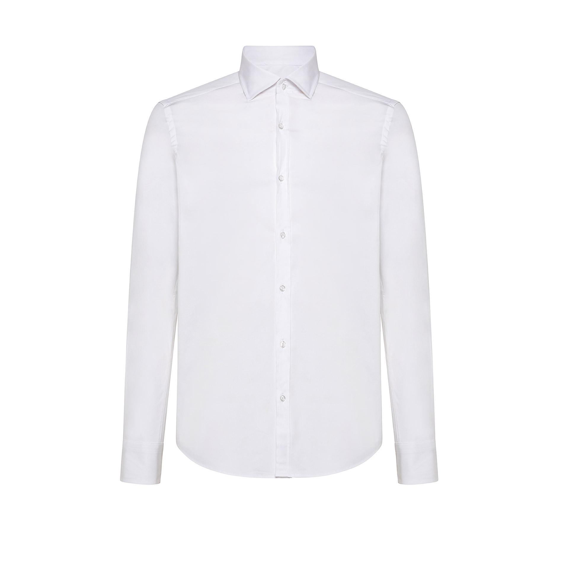 Camicia button-down popeline di cotone, Bianco, large image number 0