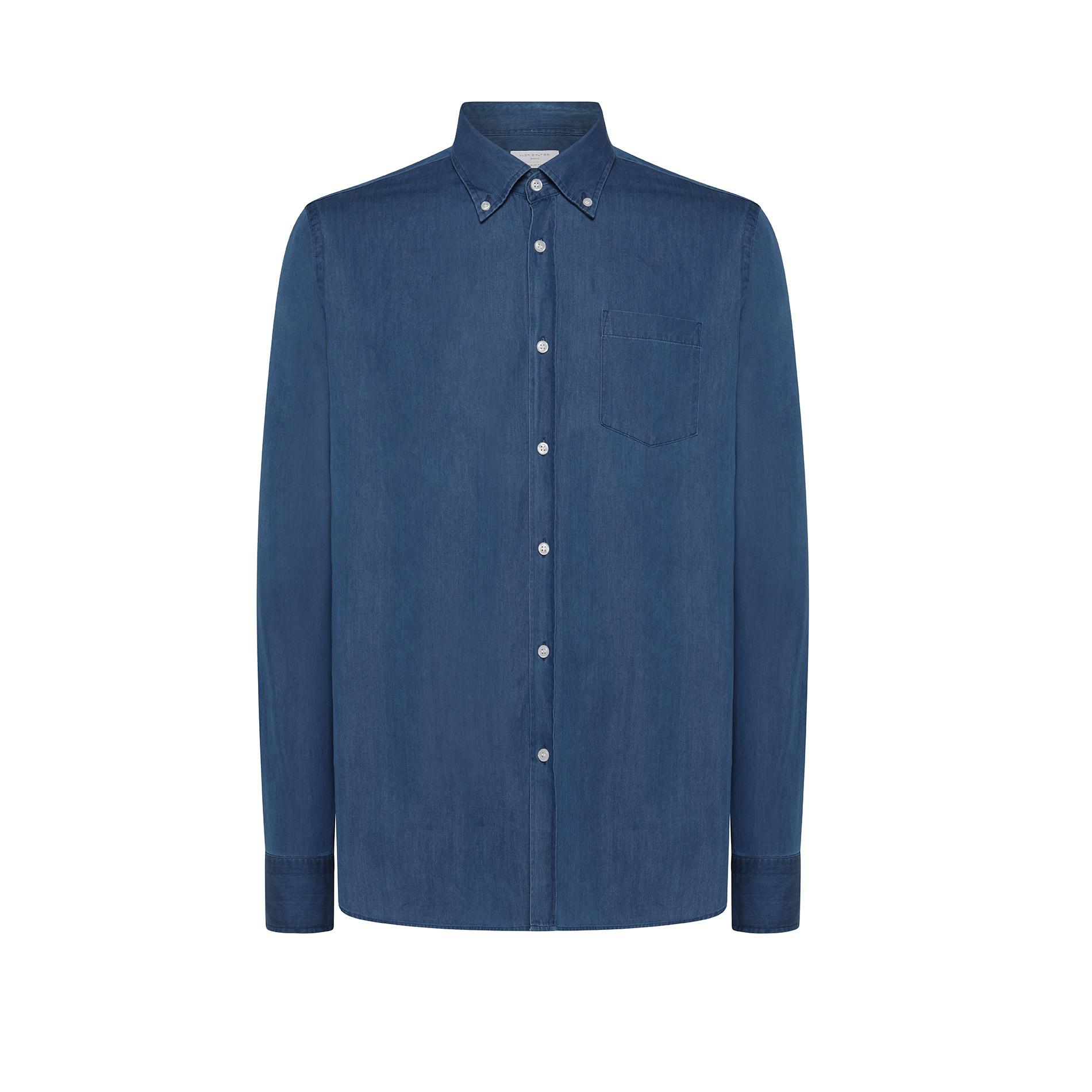 Camicia denim tailor fit Luca D'Altieri, Denim, large image number 0