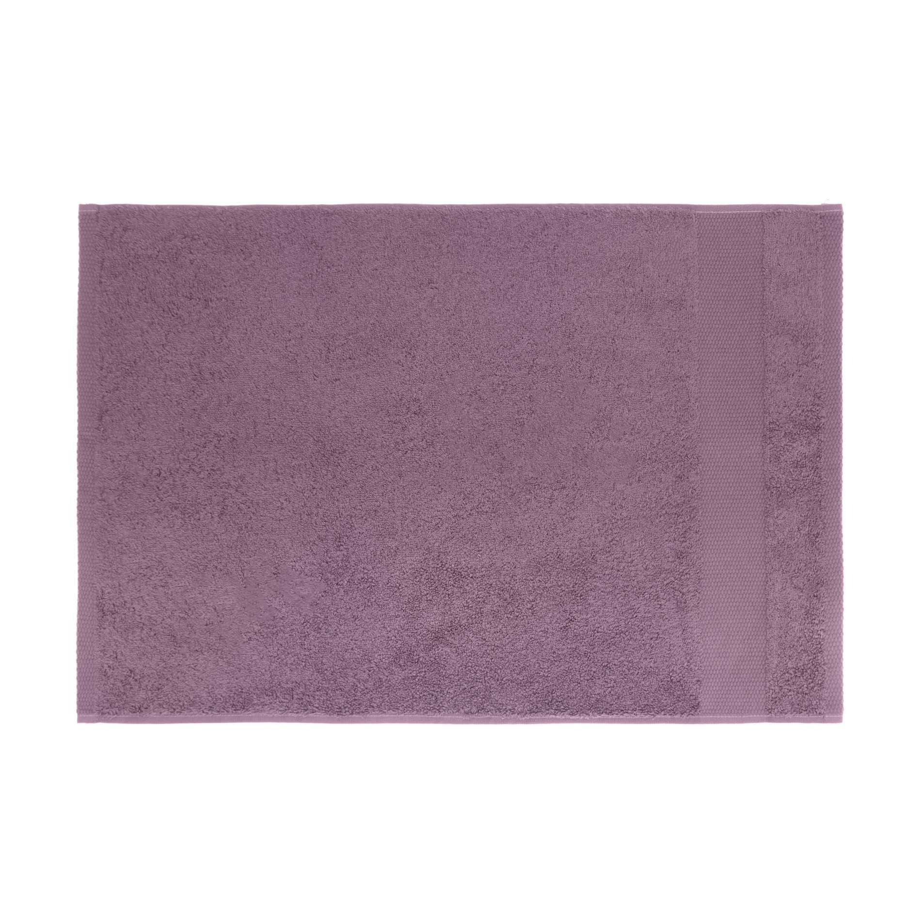 Asciugamano spugna di puro cotone Zefiro, Viola melanzana, large image number 1
