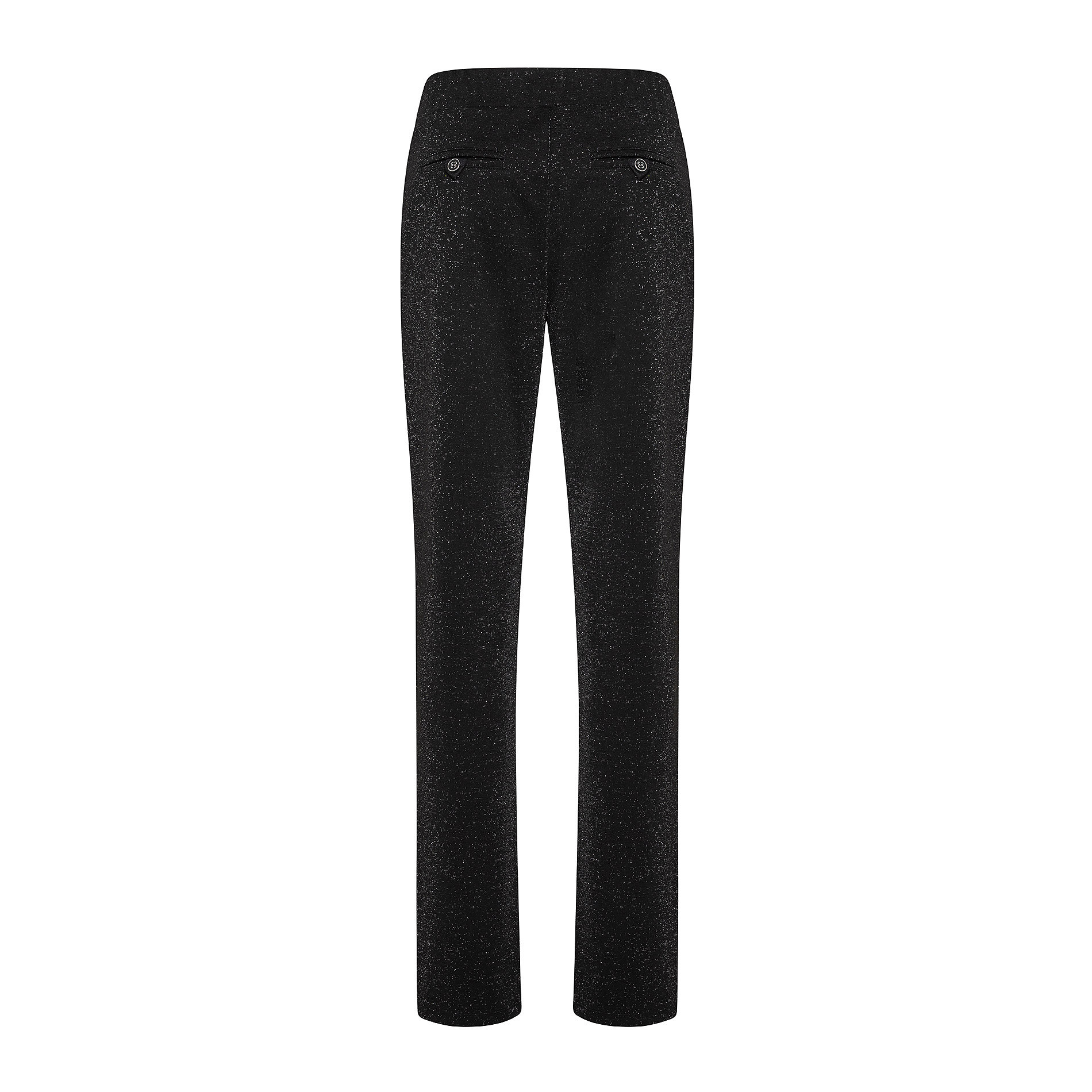 Pantaloni tinta unita con lurex, Nero, large image number 1