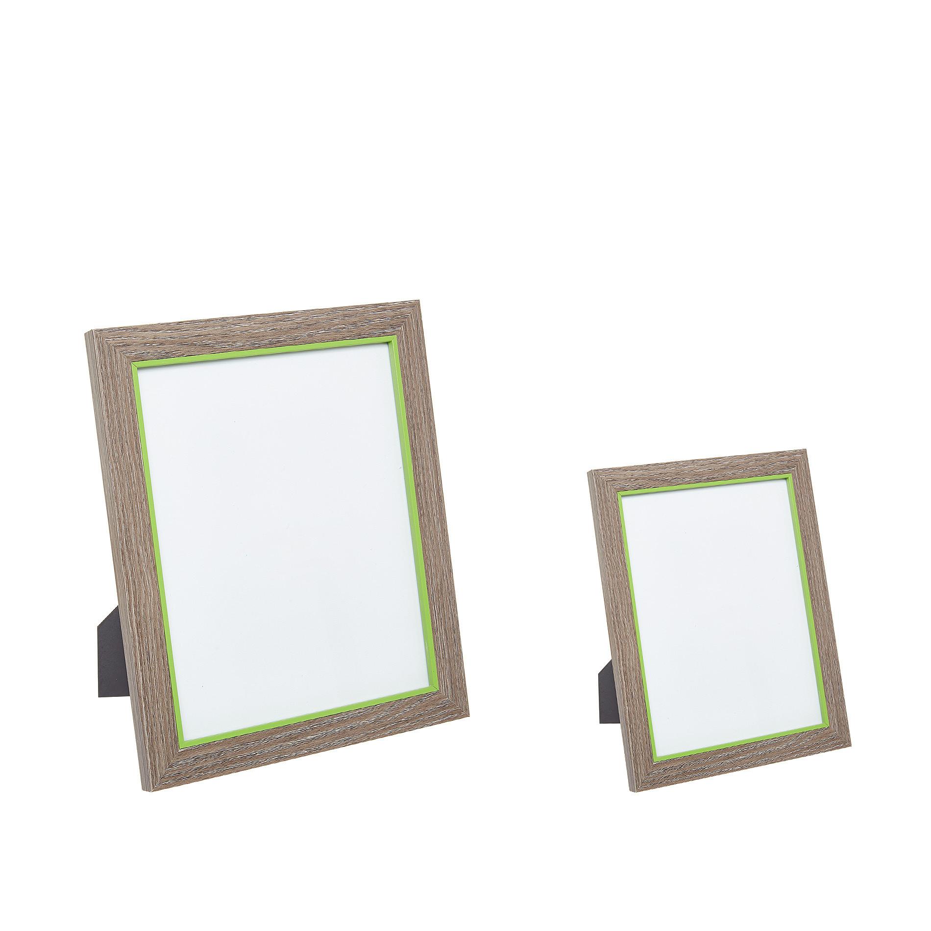 Portafoto cornice legno bicolore, Trasparente, large image number 1