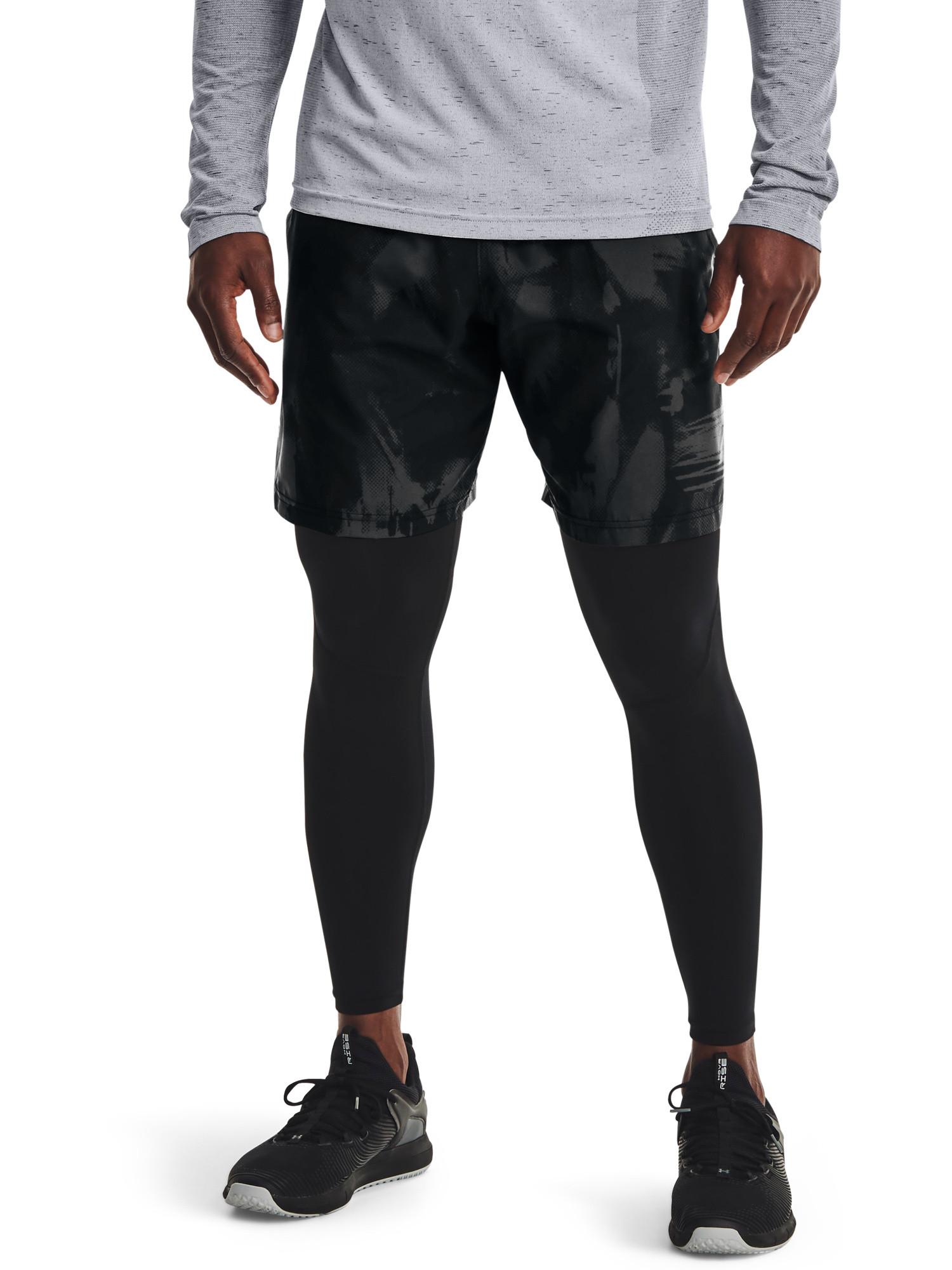 Shorts UA Woven Adapt da uomo, Nero, large image number 2