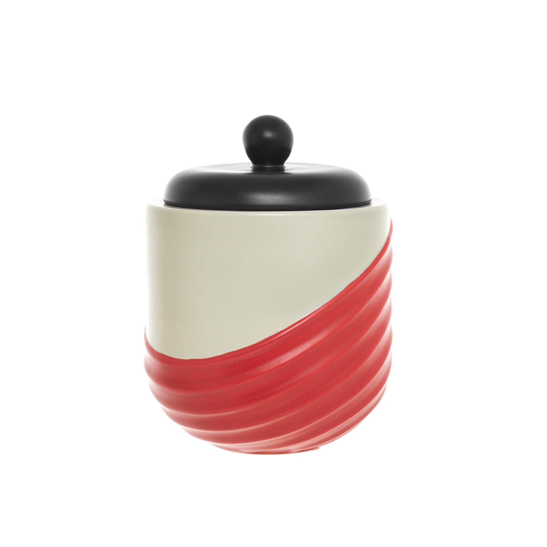 Box ceramica artigianale portoghese, Rosso, large image number 0