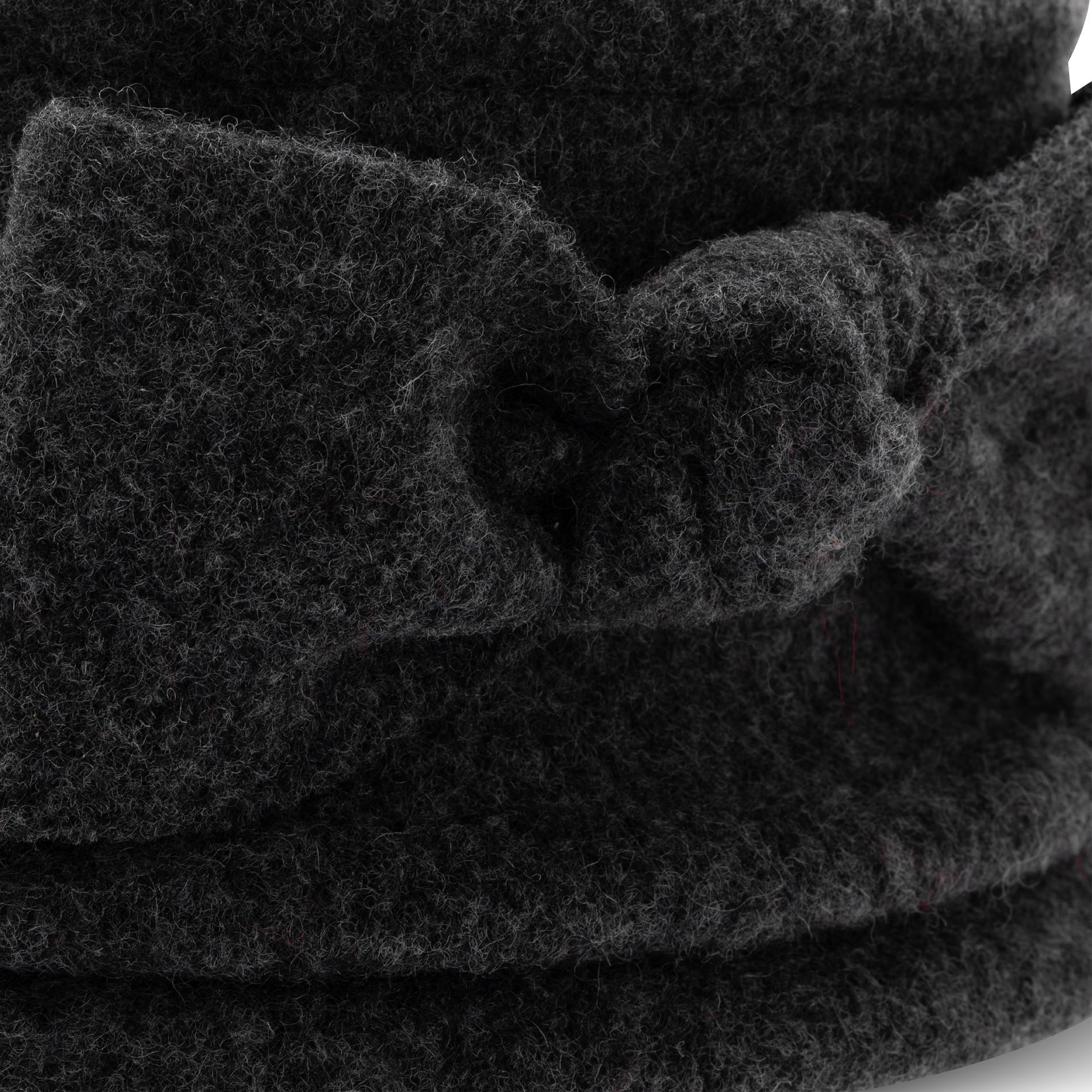 Berretto pura lana con fiocco Koan, Grigio scuro, large image number 1