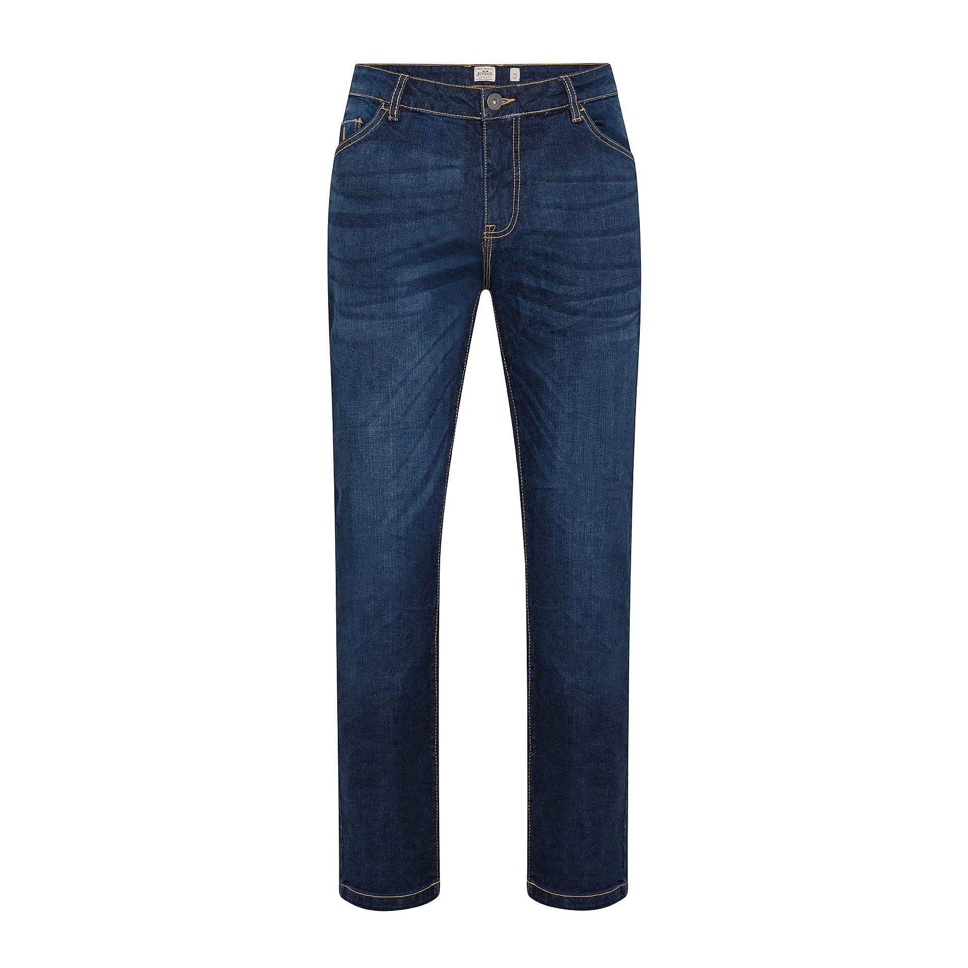 Jeans stretch 5 tasche JCT, Blu scuro, large image number 0