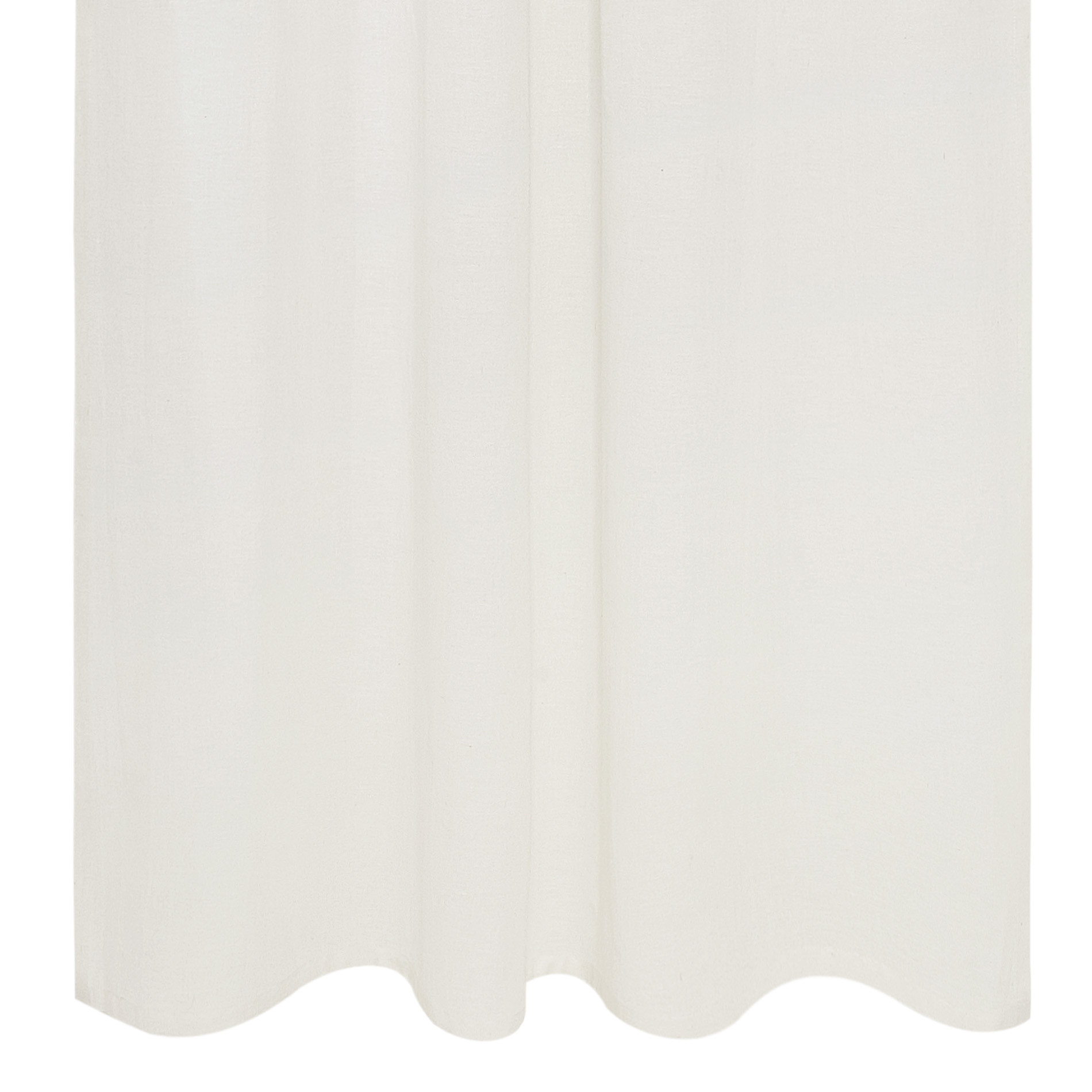 Tenda misto lino con passanti nascosti, Bianco, large image number 2