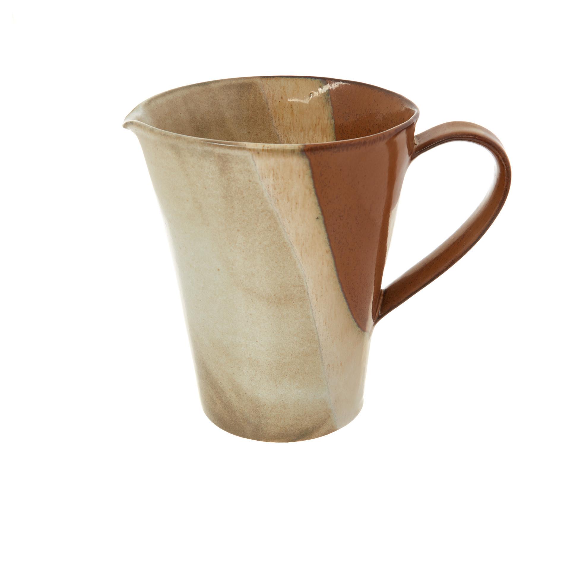 Caraffa stoneware Terra, Marrone, large image number 0