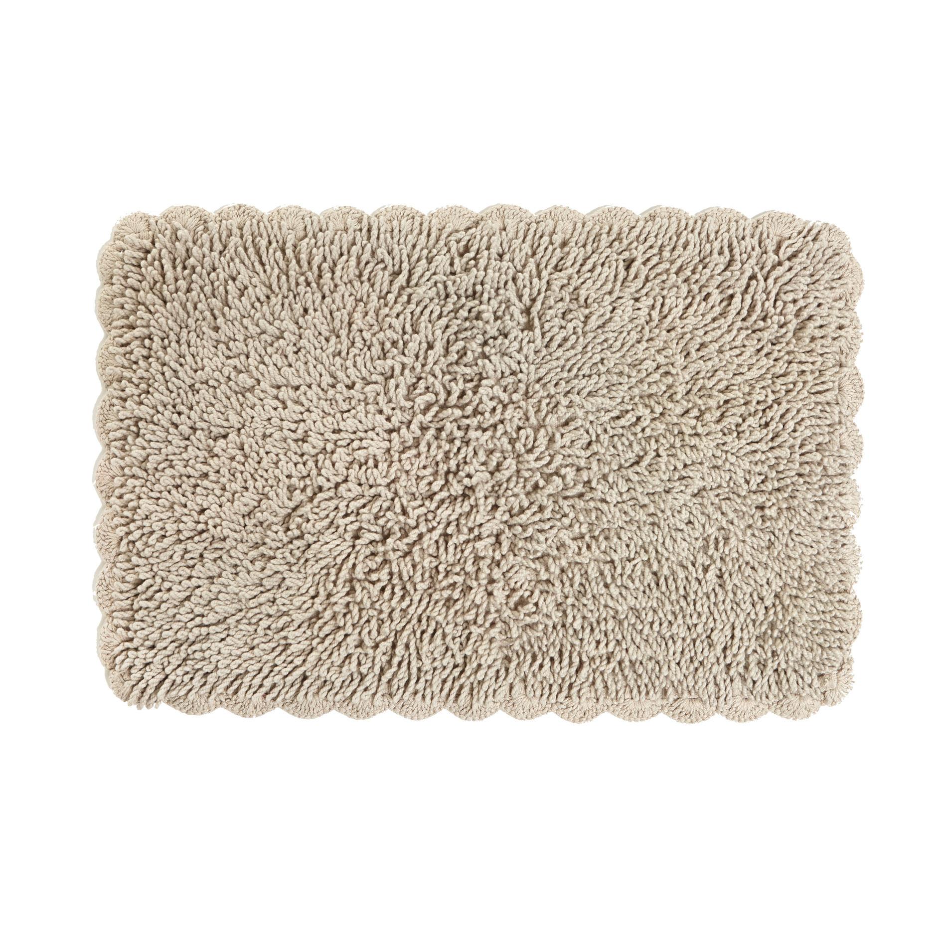 Tappeto bagno con crochet, Beige, large image number 0