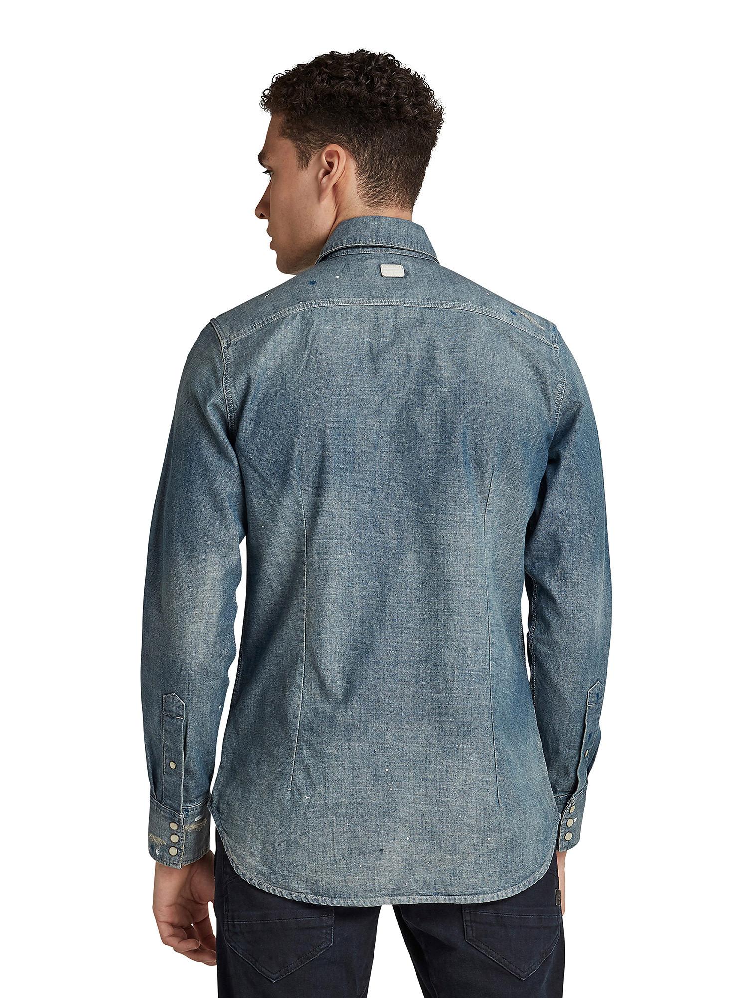 Camicia Chambray slim, Denim, large image number 4