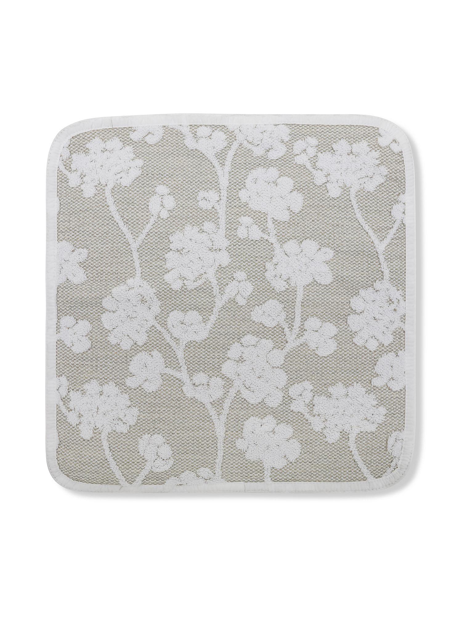 Asciugamano puro cotone a fiori Thermae, Beige chiaro, large image number 0