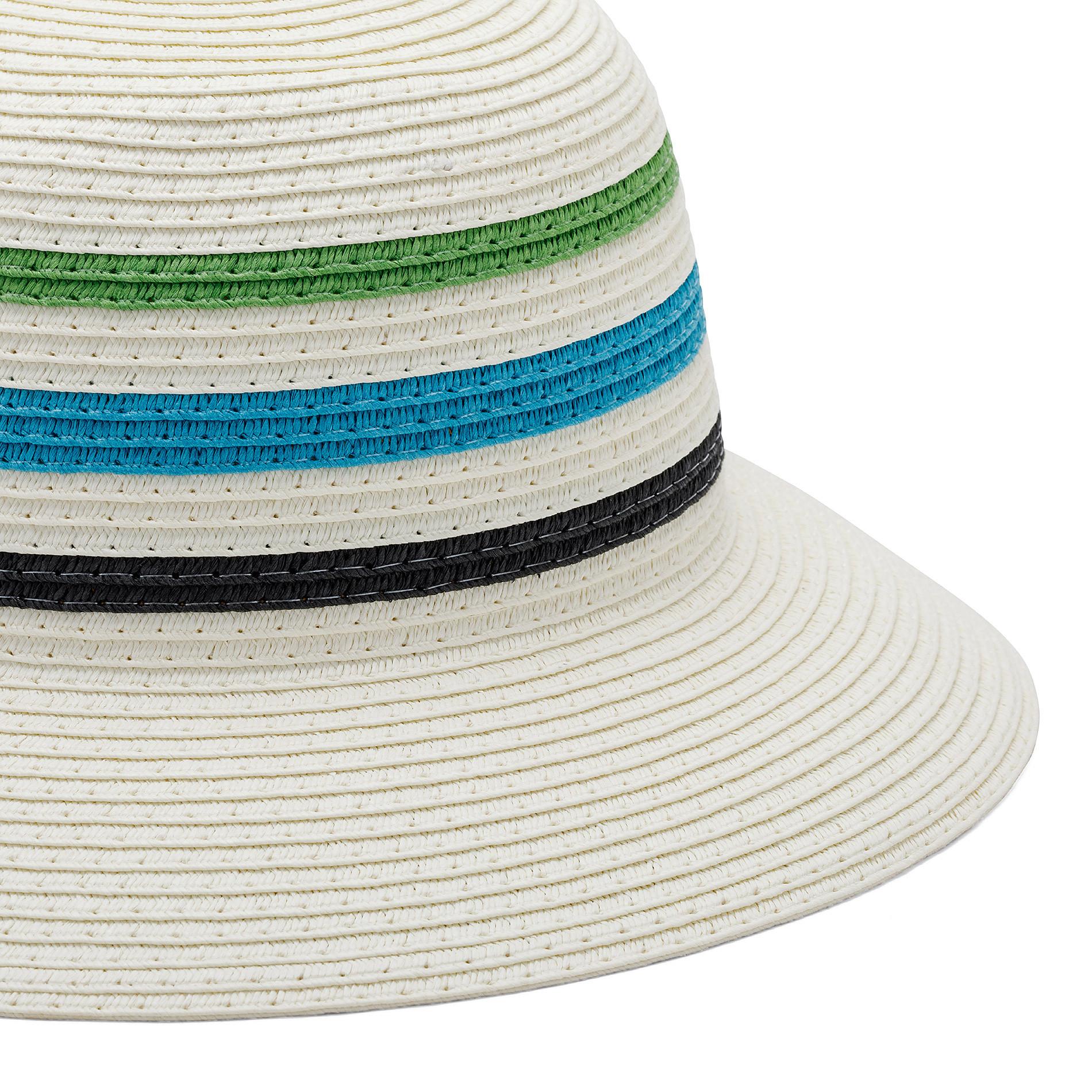 Cappello di paglia a tre righe Koan, Azzurro, large image number 1